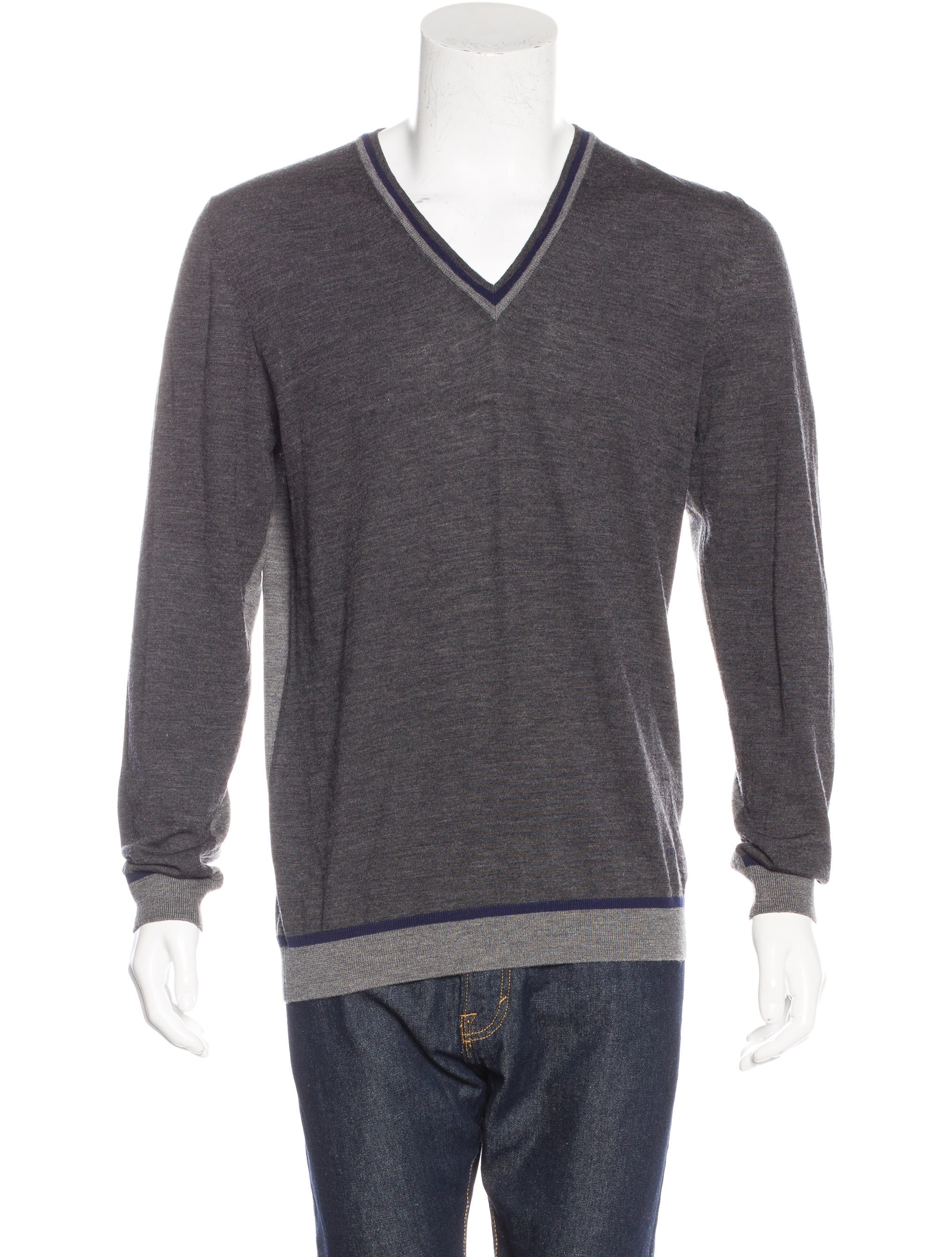 Gucci Merino Wool V-Neck Sweater - Clothing