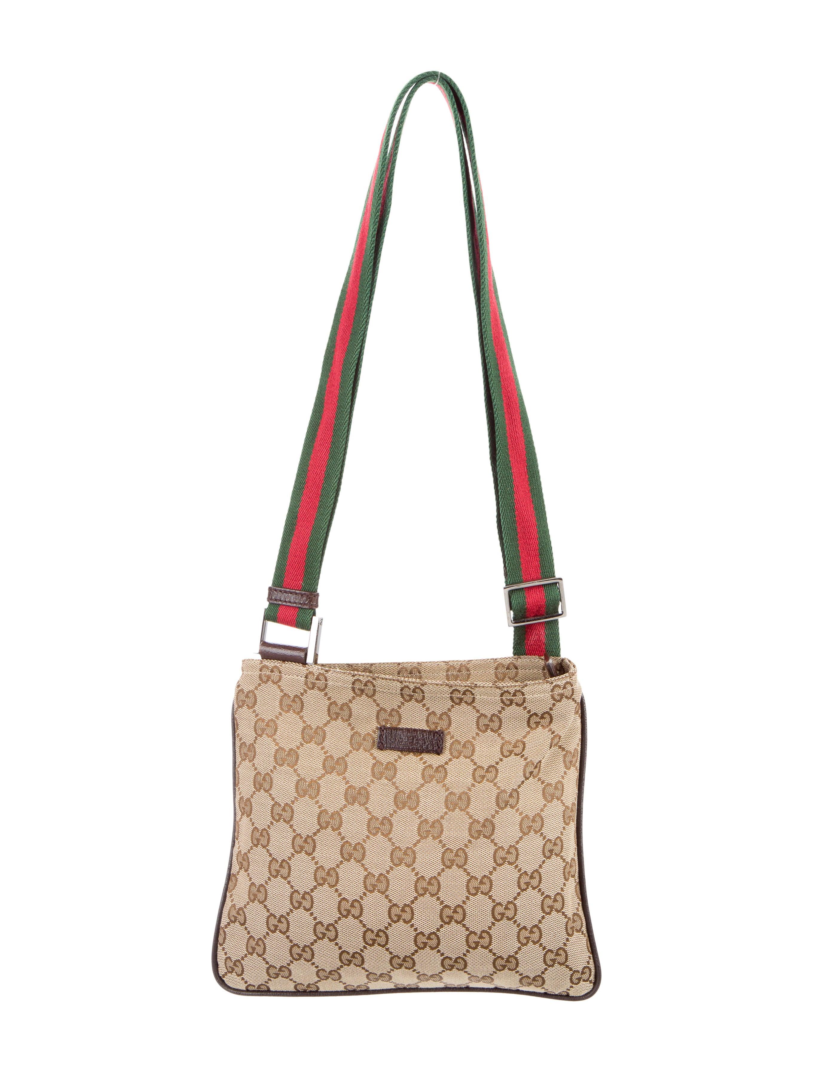 gucci gg canvas messenger bag handbags guc135900 the realreal. Black Bedroom Furniture Sets. Home Design Ideas