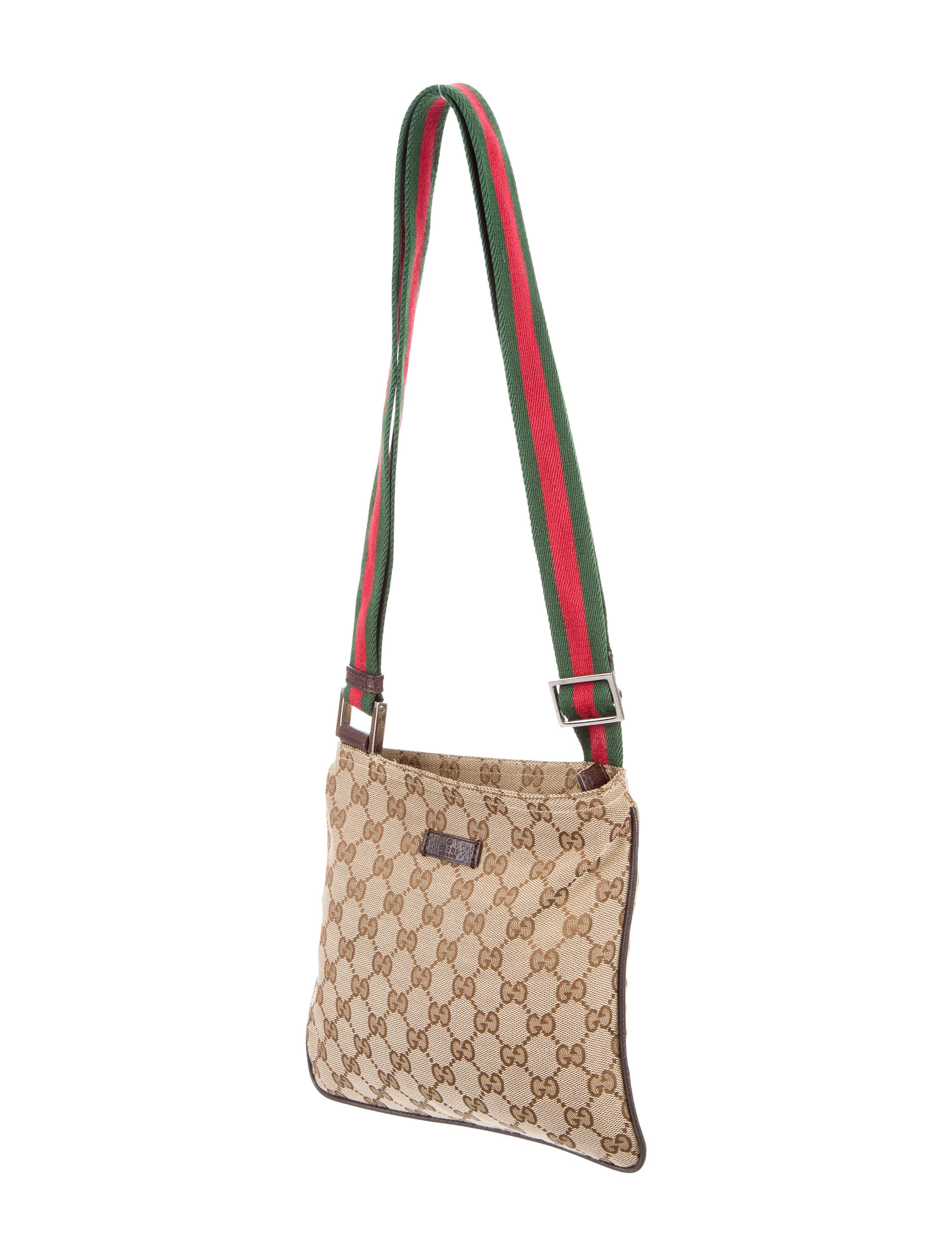 Gucci Gg Canvas Messenger Bag Handbags Guc135900 The