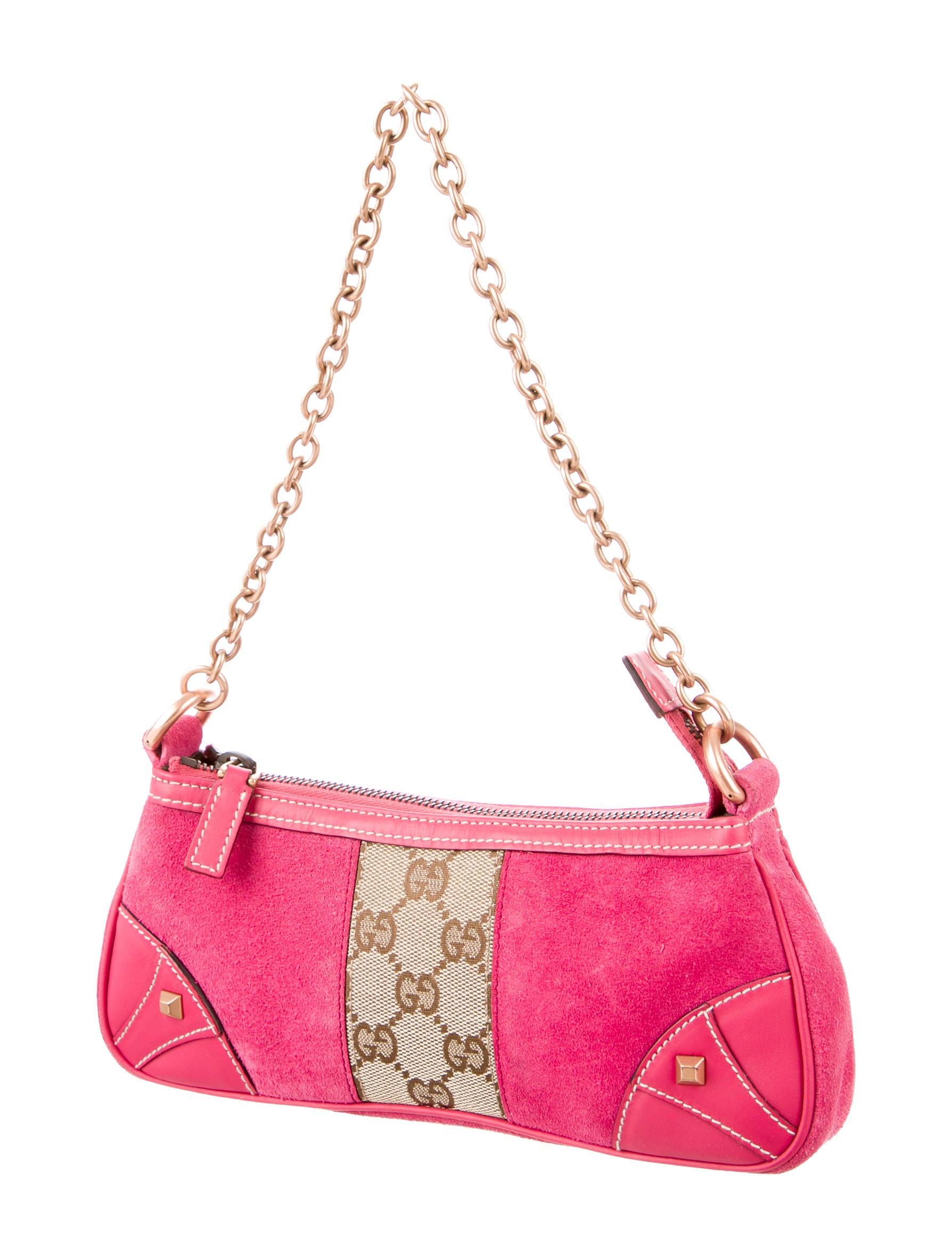 gucci gg nailhead pochette handbags guc135929 the realreal. Black Bedroom Furniture Sets. Home Design Ideas