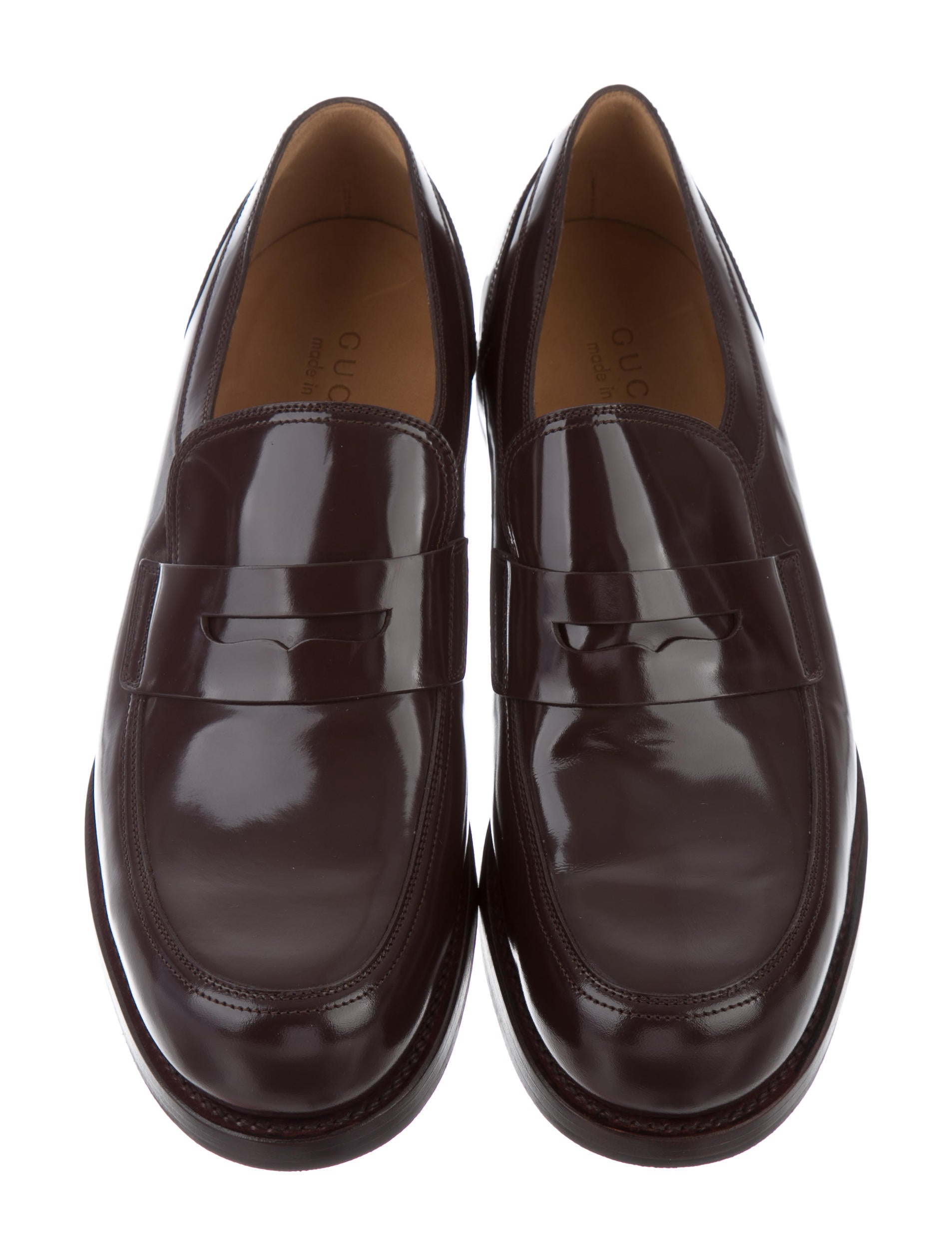 Gucci Patent Leather Penny Loafers - Shoes - GUC136003 ...