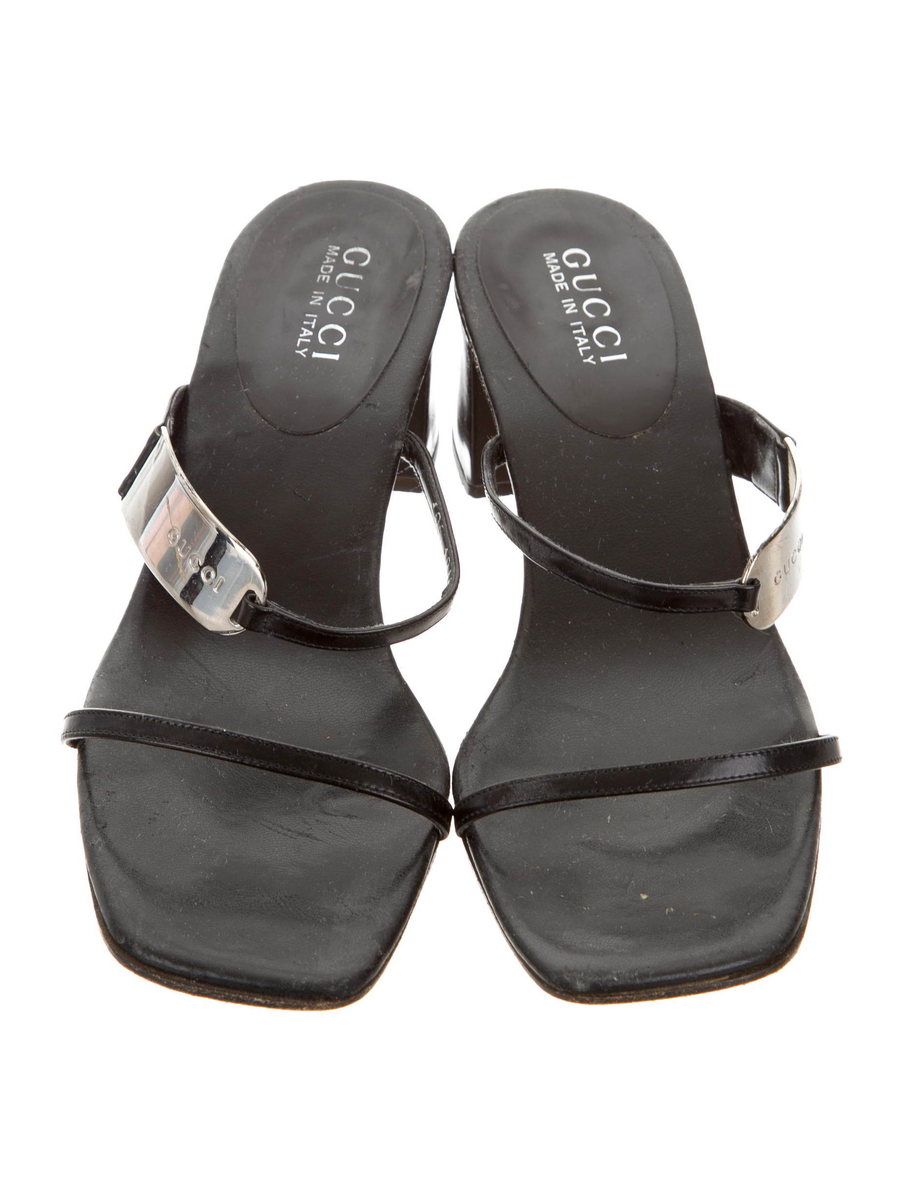 Gucci Leather Slide Sandals - Shoes - GUC136073 | The RealReal