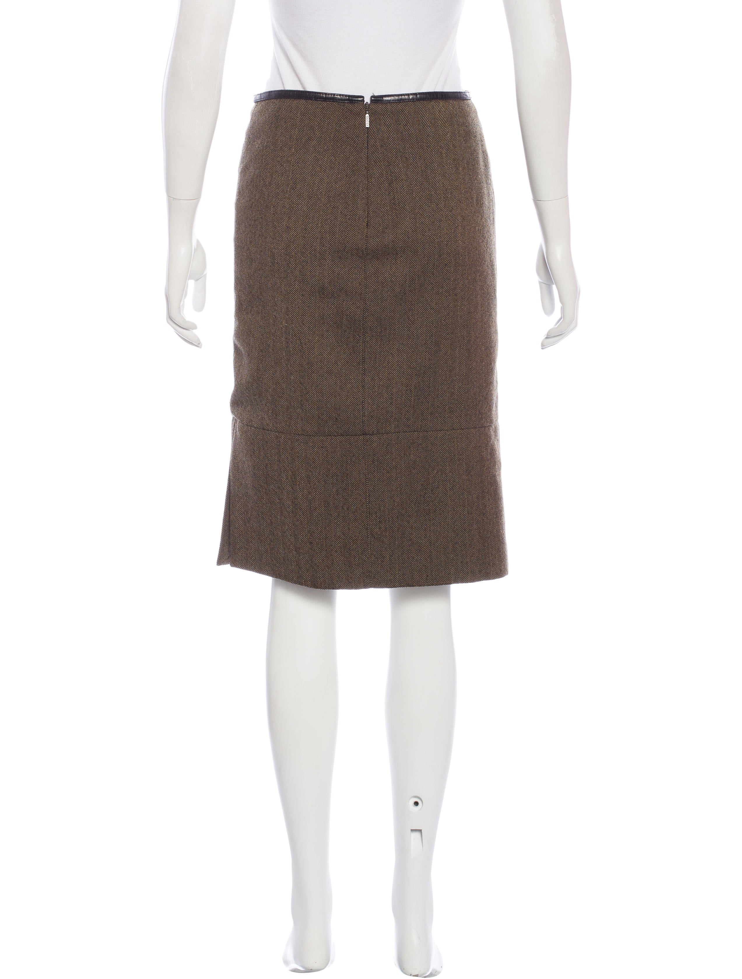 Gucci Wool Pencil Skirt - Clothing - GUC136397   The RealReal