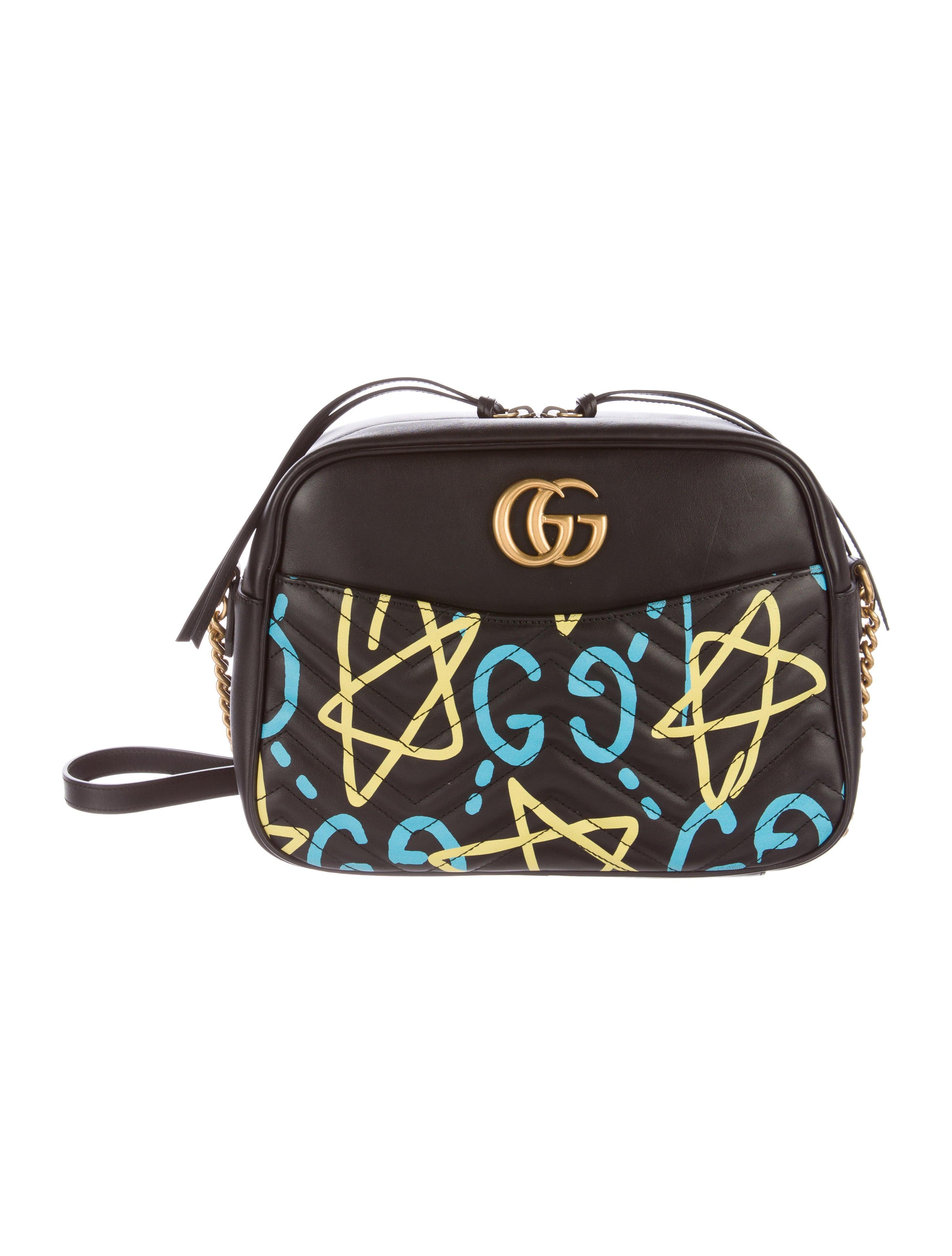 845d454b153 Gucci GG Marmont GucciGhost Shoulder Bag - Handbags - GUC136503 ...