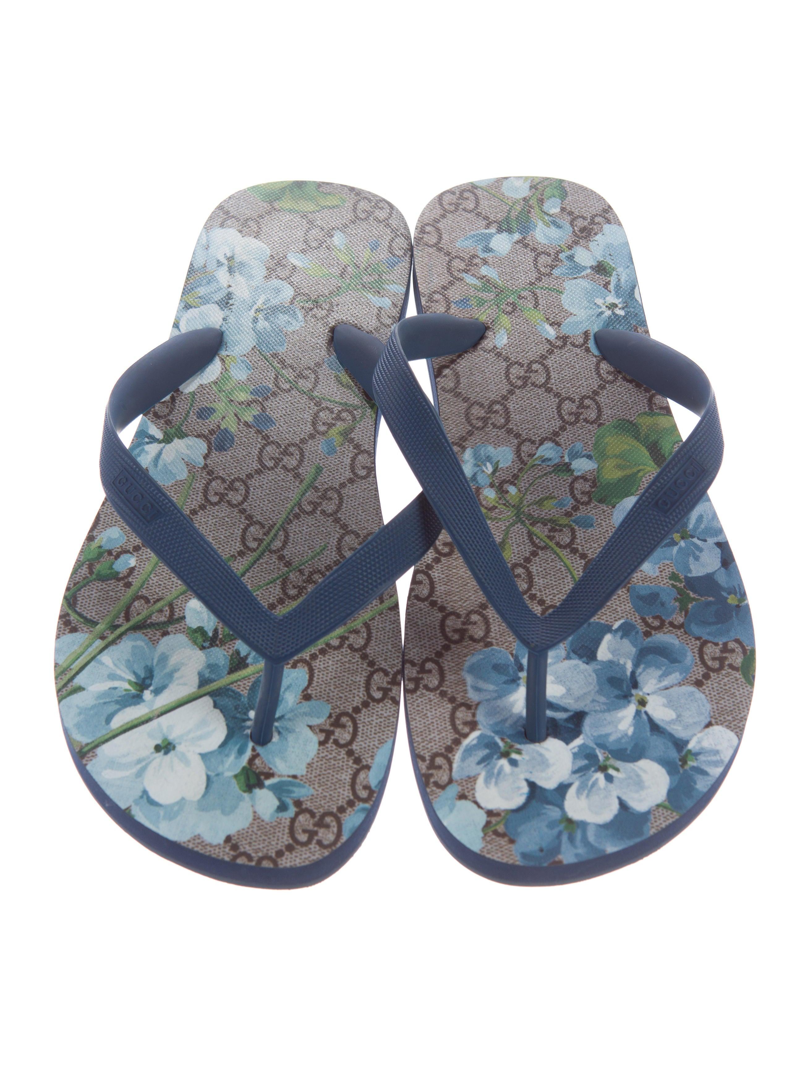 e312d83f9be4 Gucci Blue Bloom Slides