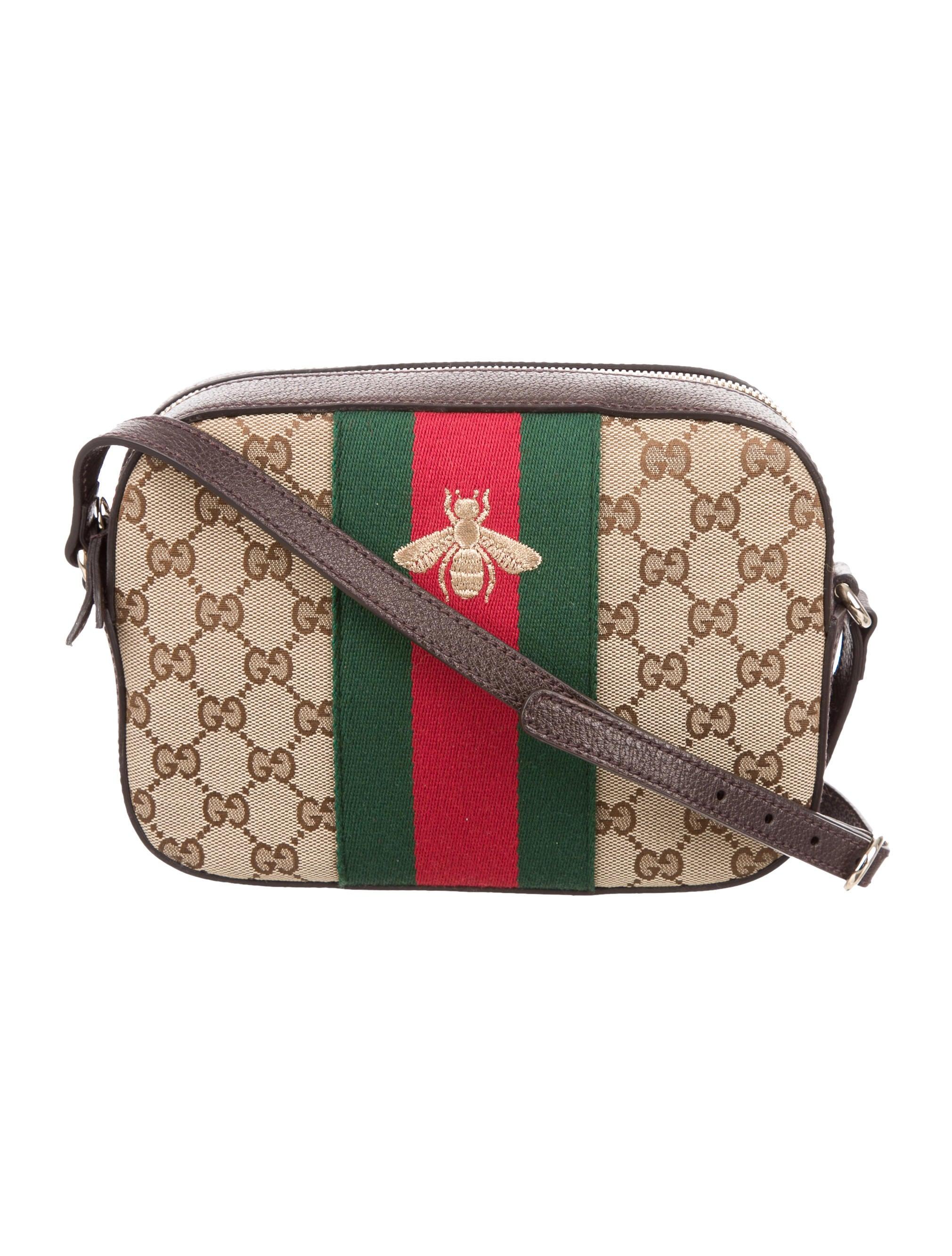 9c68e96c980c Gucci Webby Bee Crossbody Bag - Handbags - GUC136810 | The RealReal