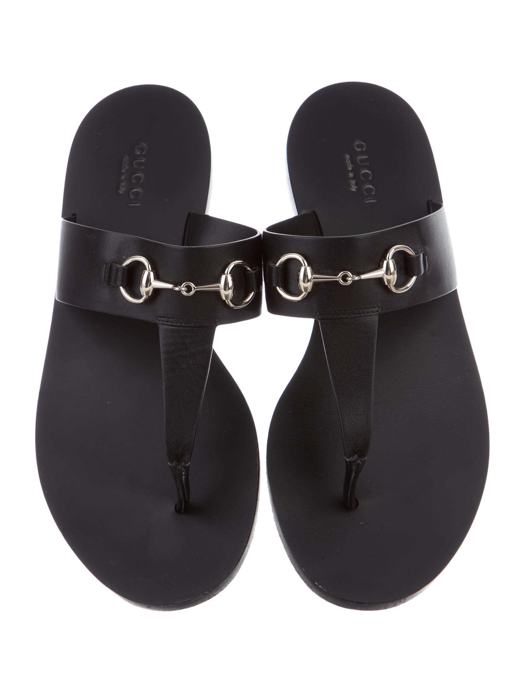 Gucci Horsebit Leather Slide Sandals - Shoes - GUC136899 ...