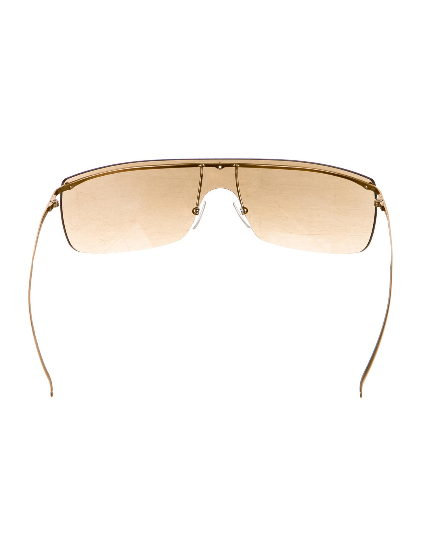 Rimless Glasses With Changeable Arms : Gucci Rimless Shield Sunglasses - Accessories - GUC136980 ...