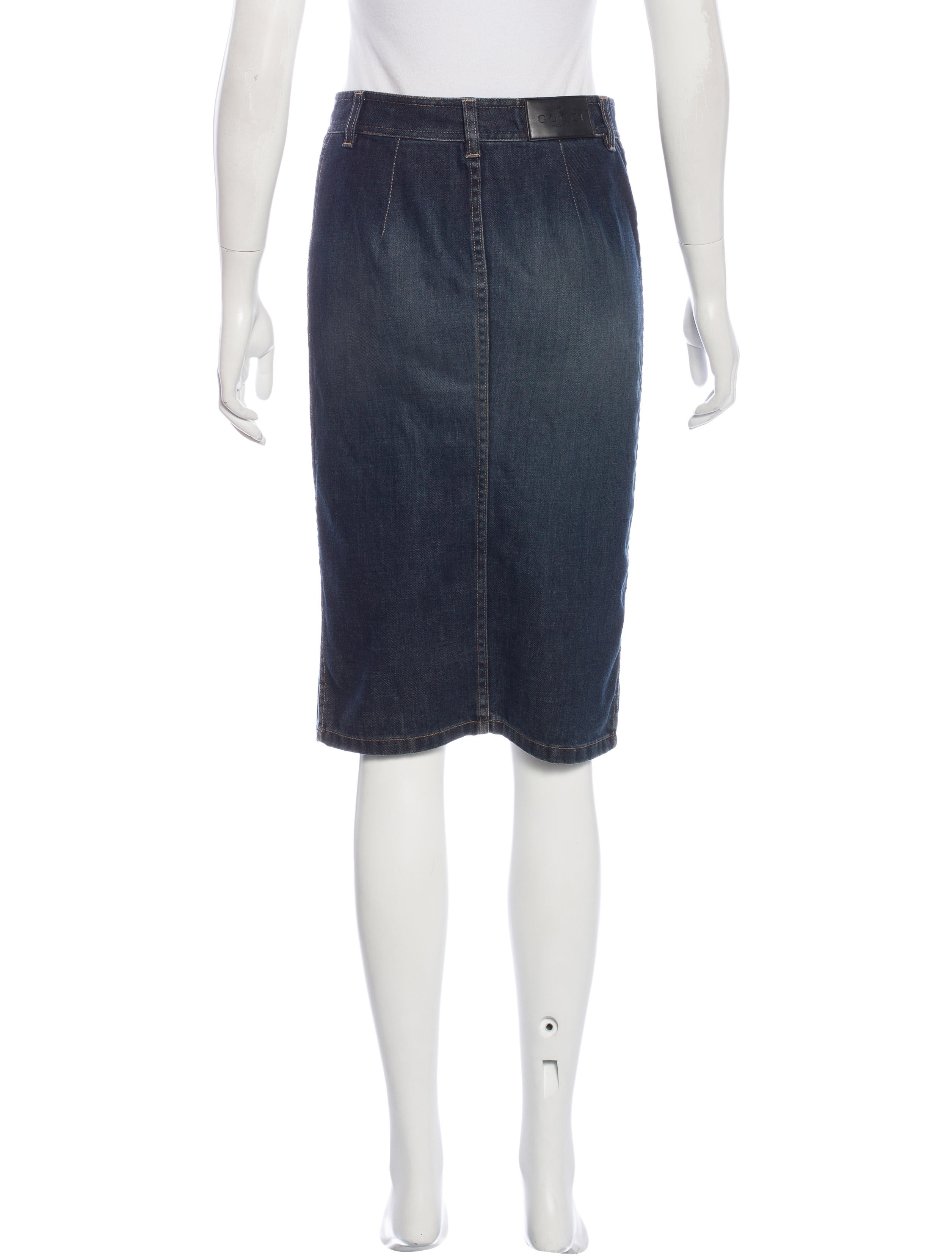 Gucci Denim Pencil Skirt - Clothing - GUC137529 | The RealReal