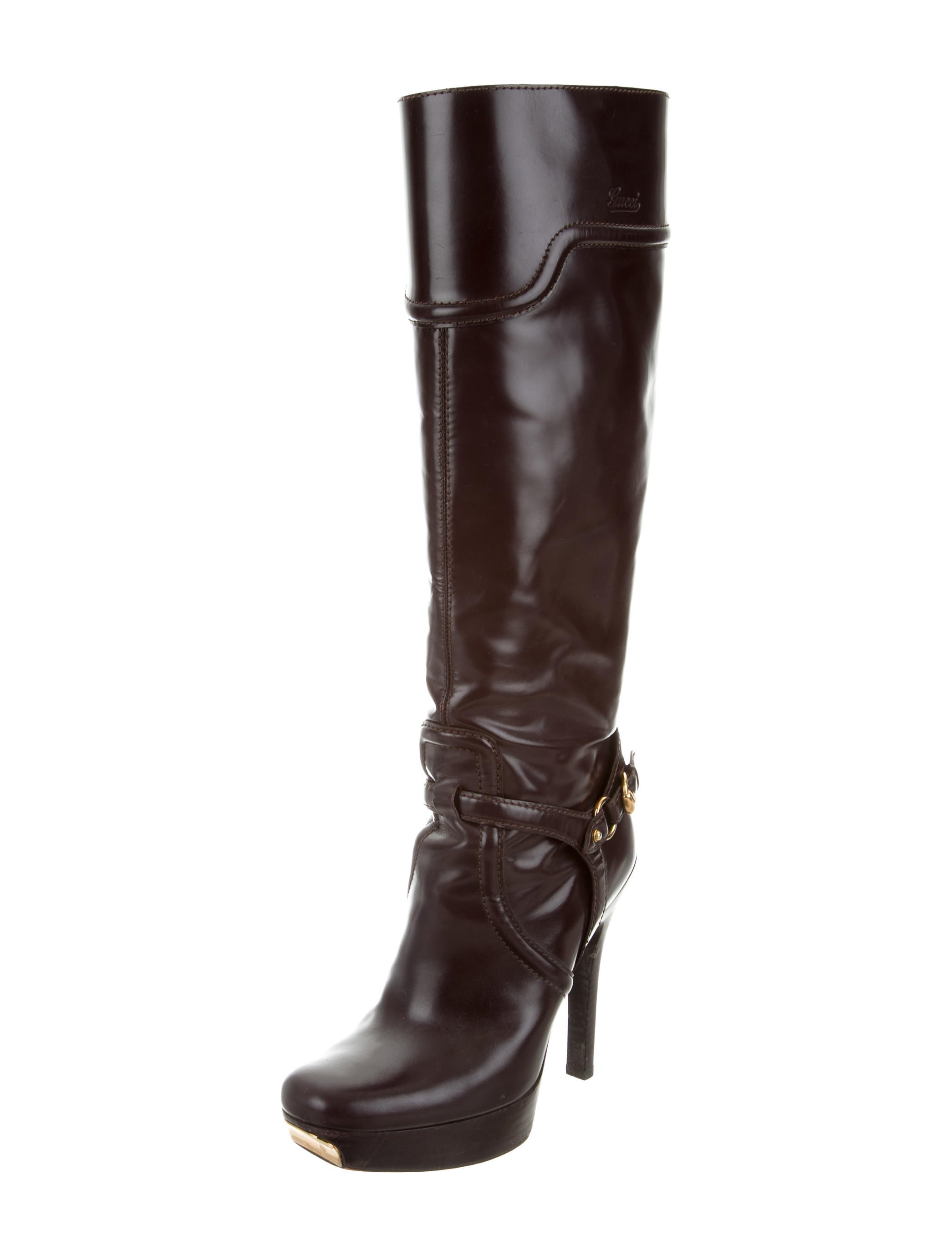 Gucci Knee High Platform Boots Shoes Guc137625 The