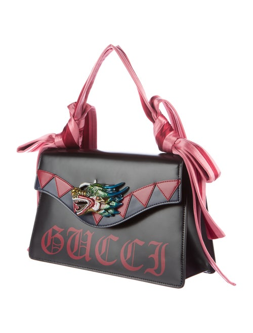 b18d0ecd444e Gucci Naga Dragon Leather Shoulder Bag w/ Tags - Handbags ...