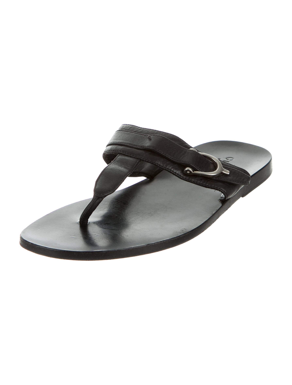 Gucci Leather Flip Flop Sandals Shoes Guc138104 The