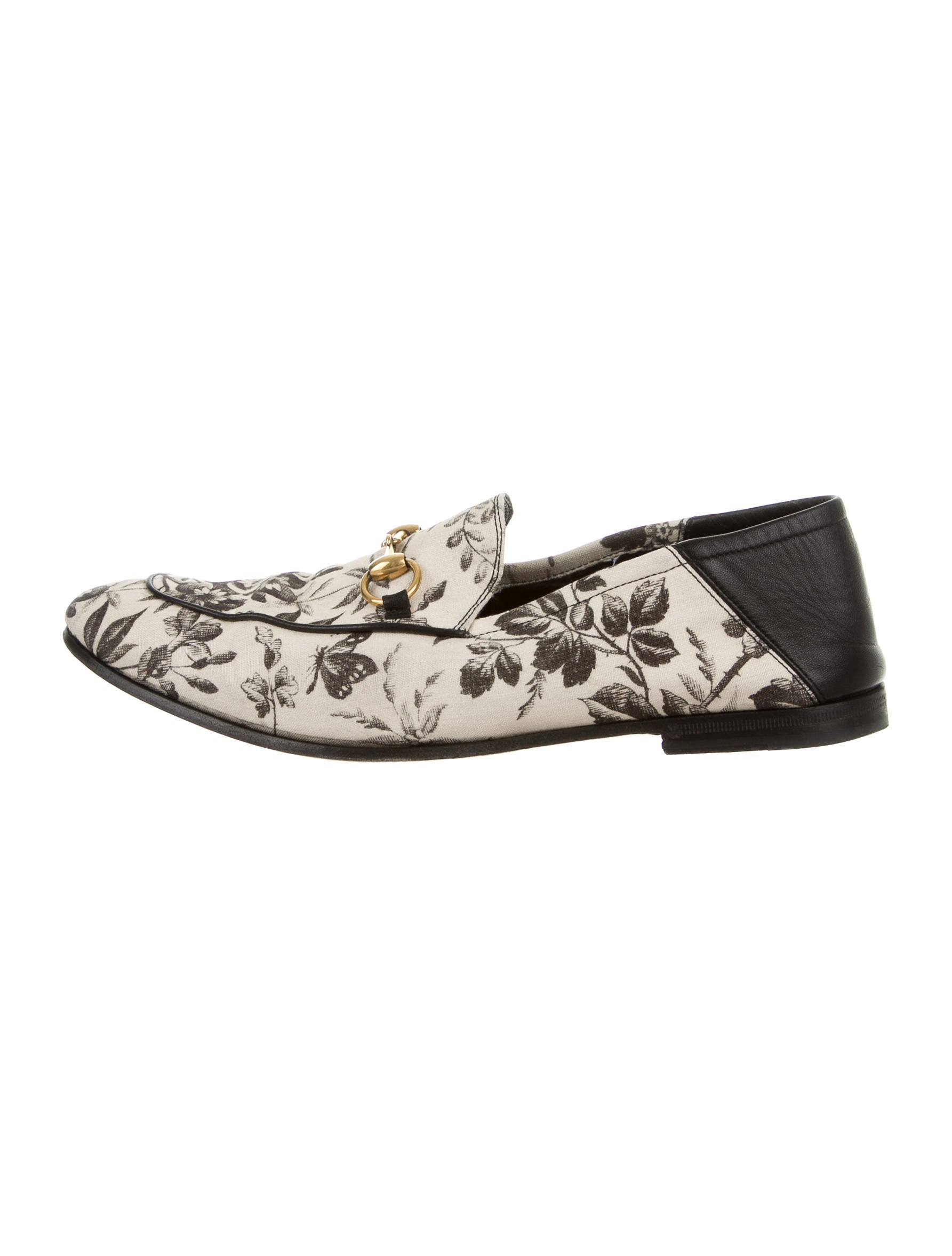 gucci floral print horsebit loafers - shoes