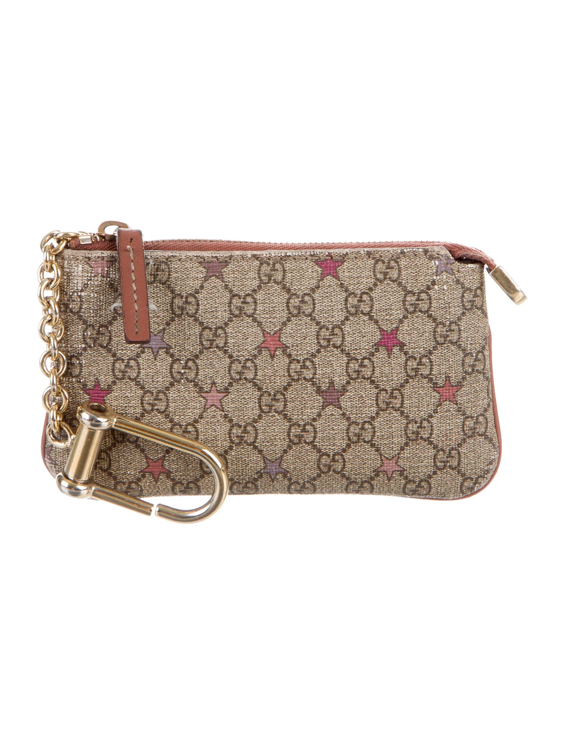 dc93105b123 Gucci GG Supreme Stars Key Pouch - Accessories - GUC138310   The ...