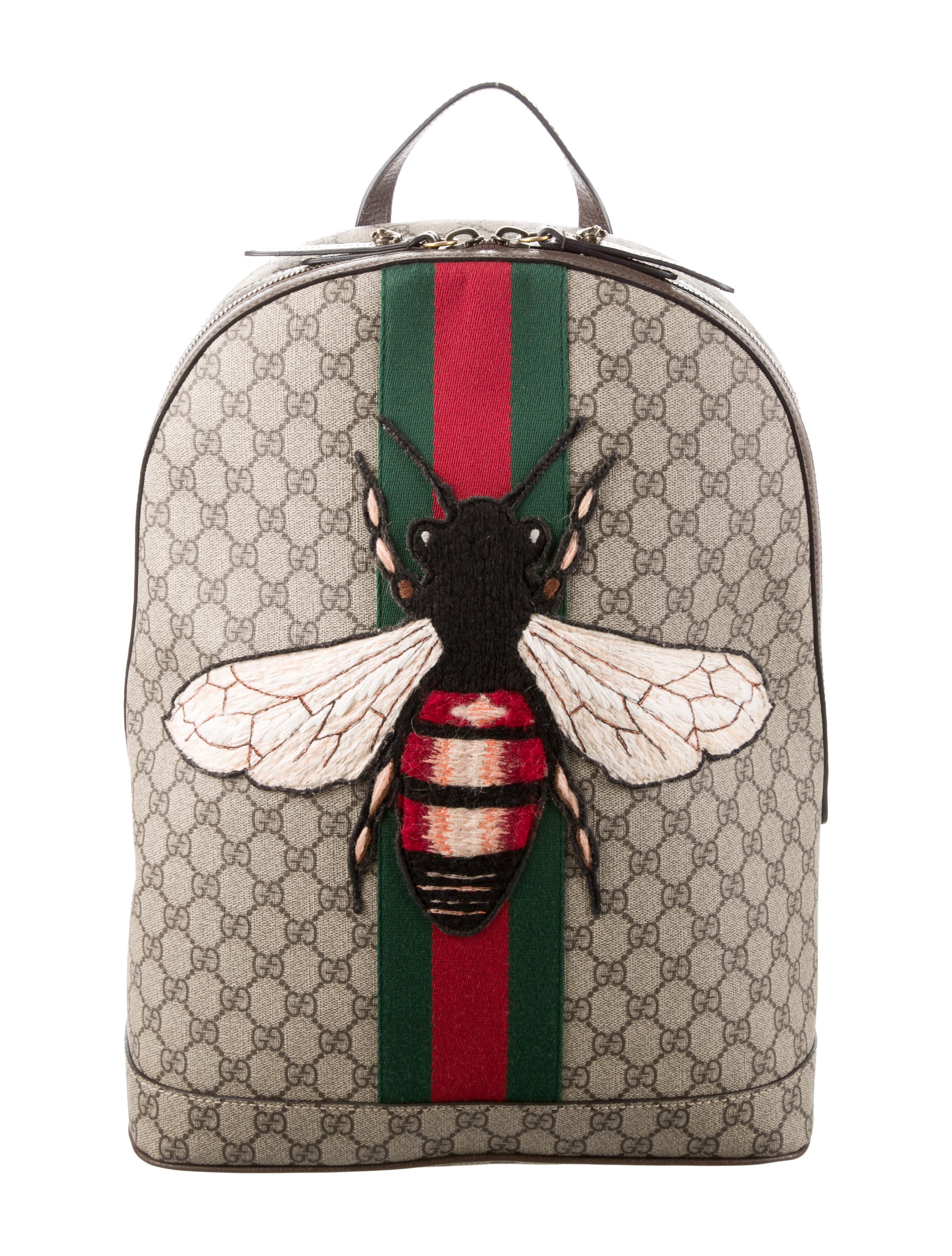 70f4f78d743 Gucci 2016 Web Animalier Bee Backpack - Bags - GUC138401