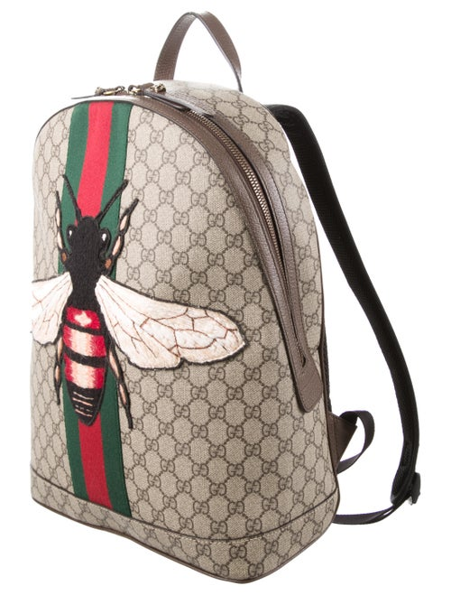 bcd9cb7437312b Gucci 2016 Web Animalier Bee Backpack - Bags - GUC138401 | The RealReal