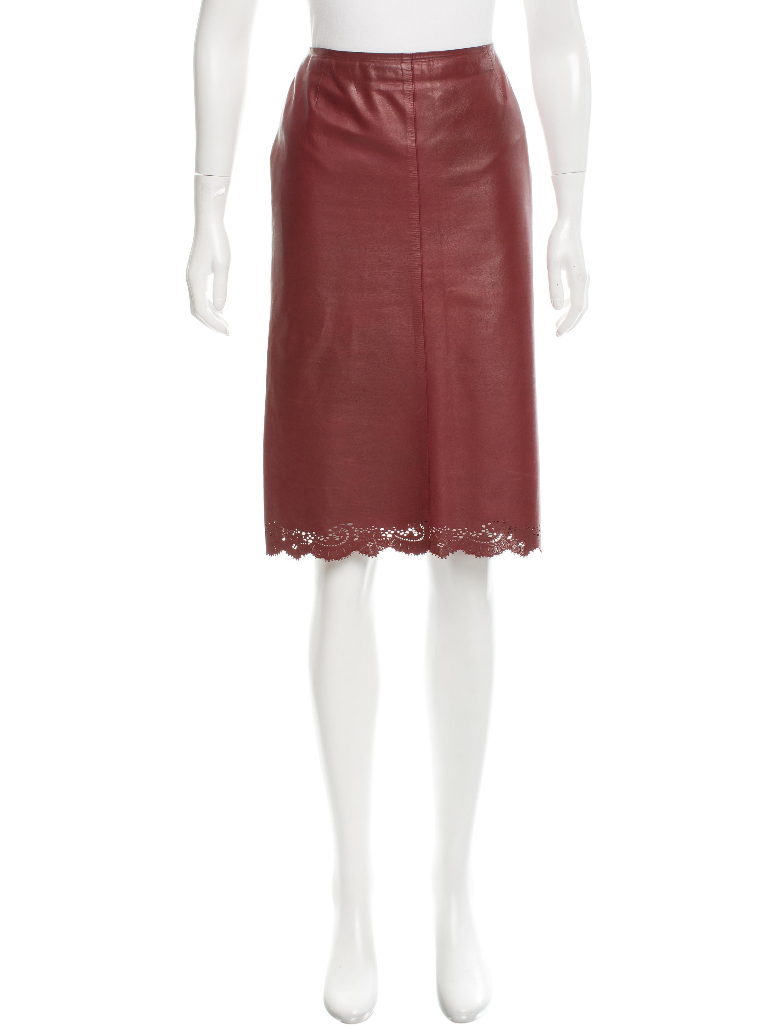 gucci laser cut leather skirt clothing guc138781 the