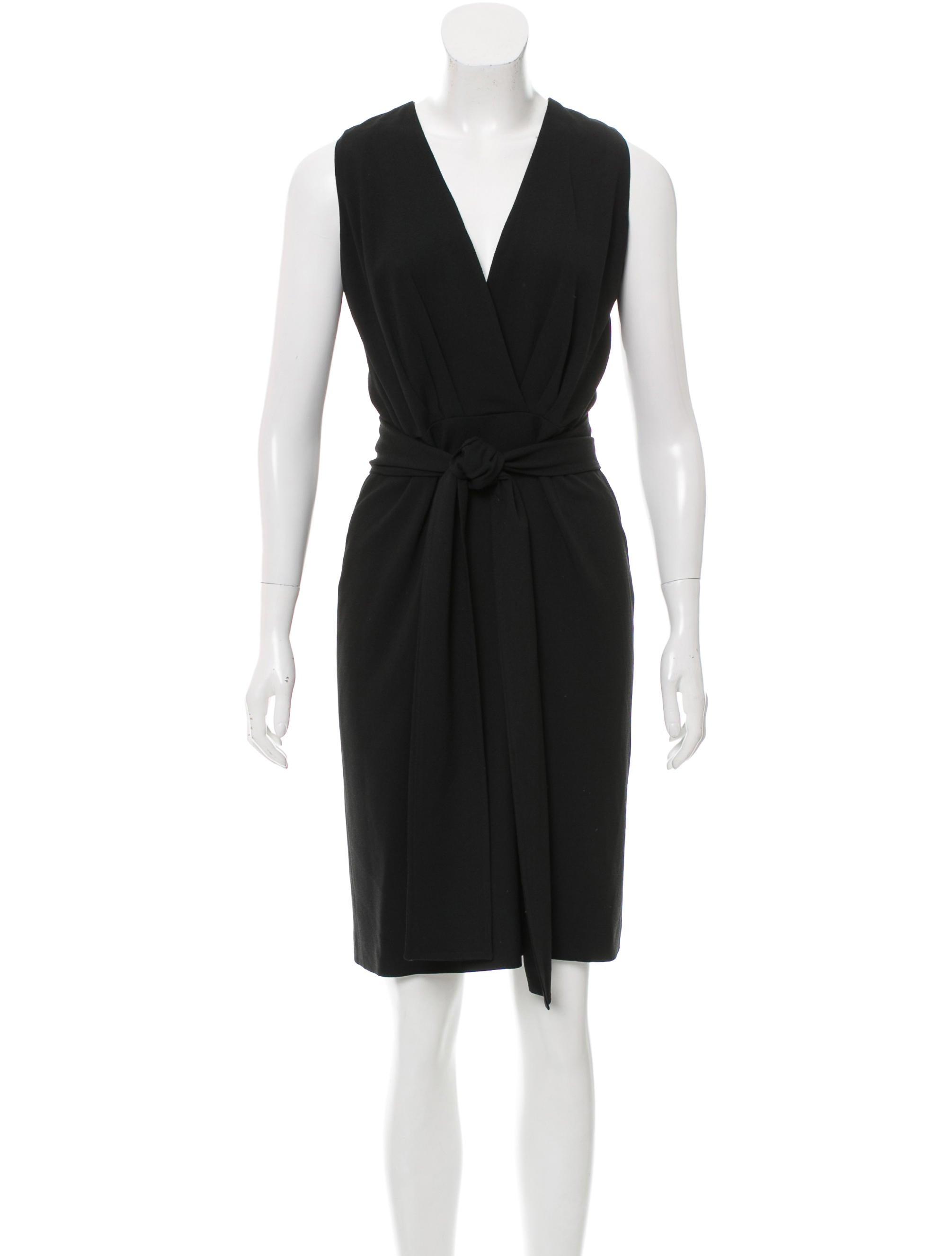 Gucci Sleeveless Sash Tie Dress - Clothing - GUC139129 | The RealReal
