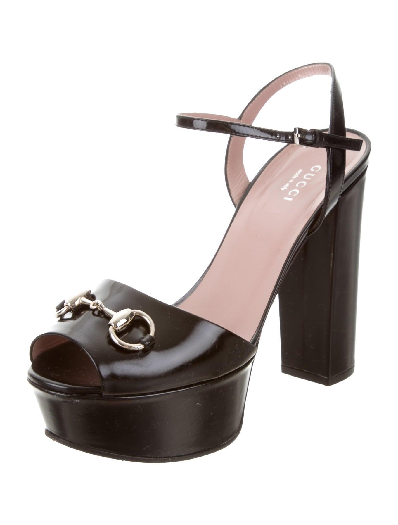 Gucci Horsebit Platform Sandals - Shoes