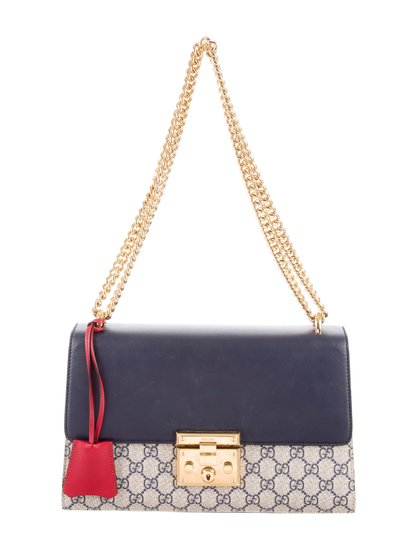 Navy Blue Dining Room Gucci Padlock Gg Supreme Shoulder Bag Handbags