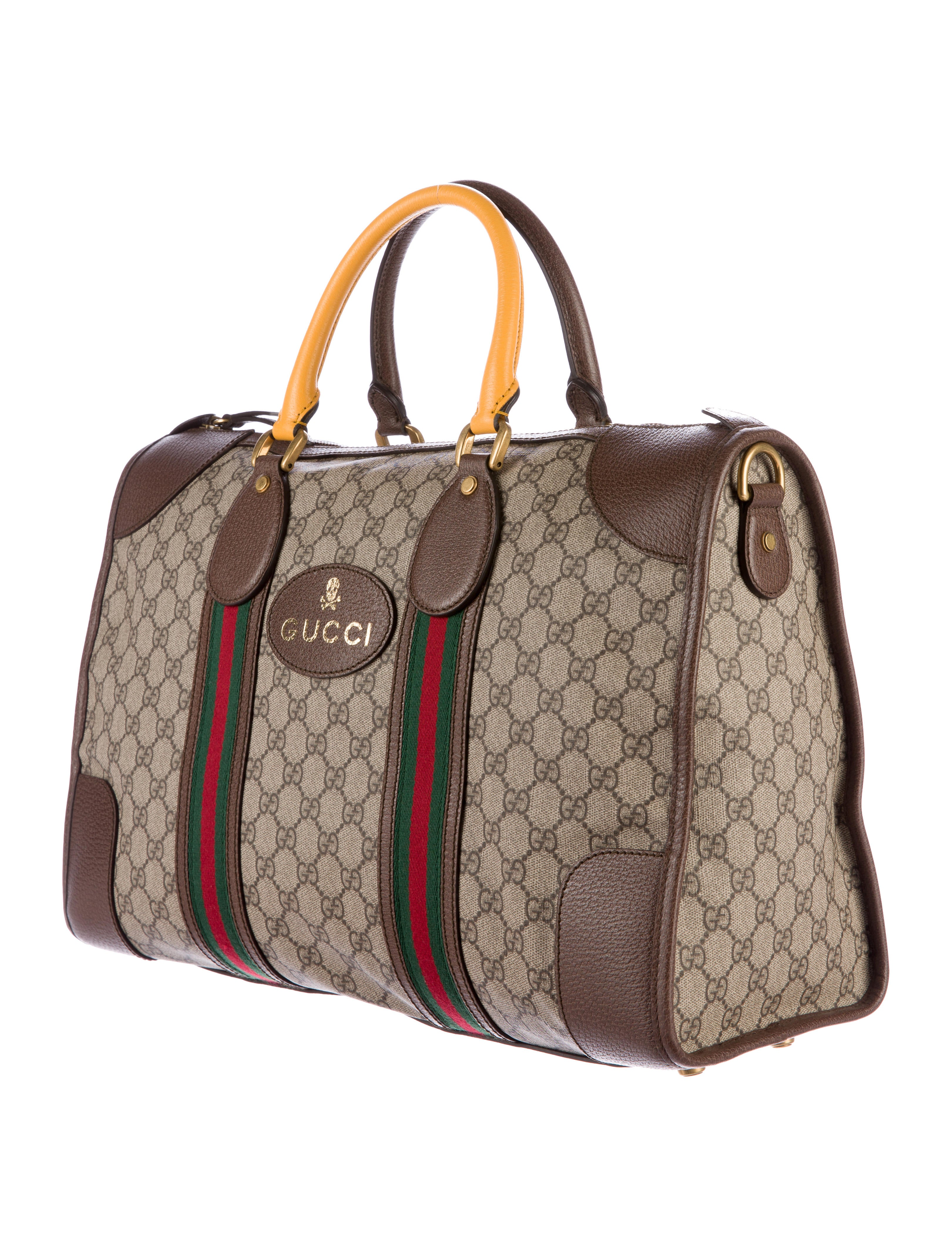 222b702fd485e7 Gucci 2017 GG Supreme Web Duffle Bag - Luggage - GUC140057   The RealReal