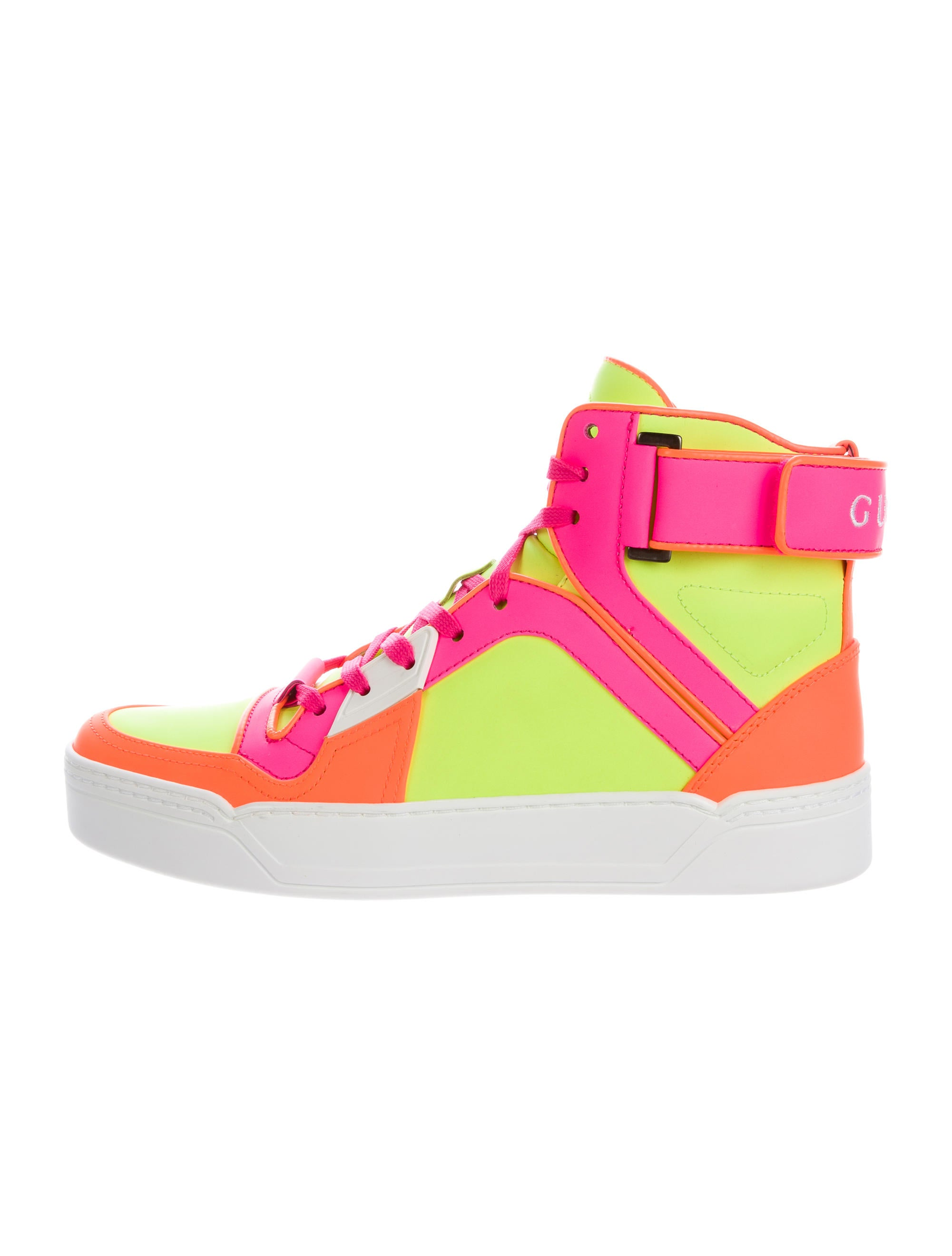 Gucci Neon High-Top Sneakers - Shoes