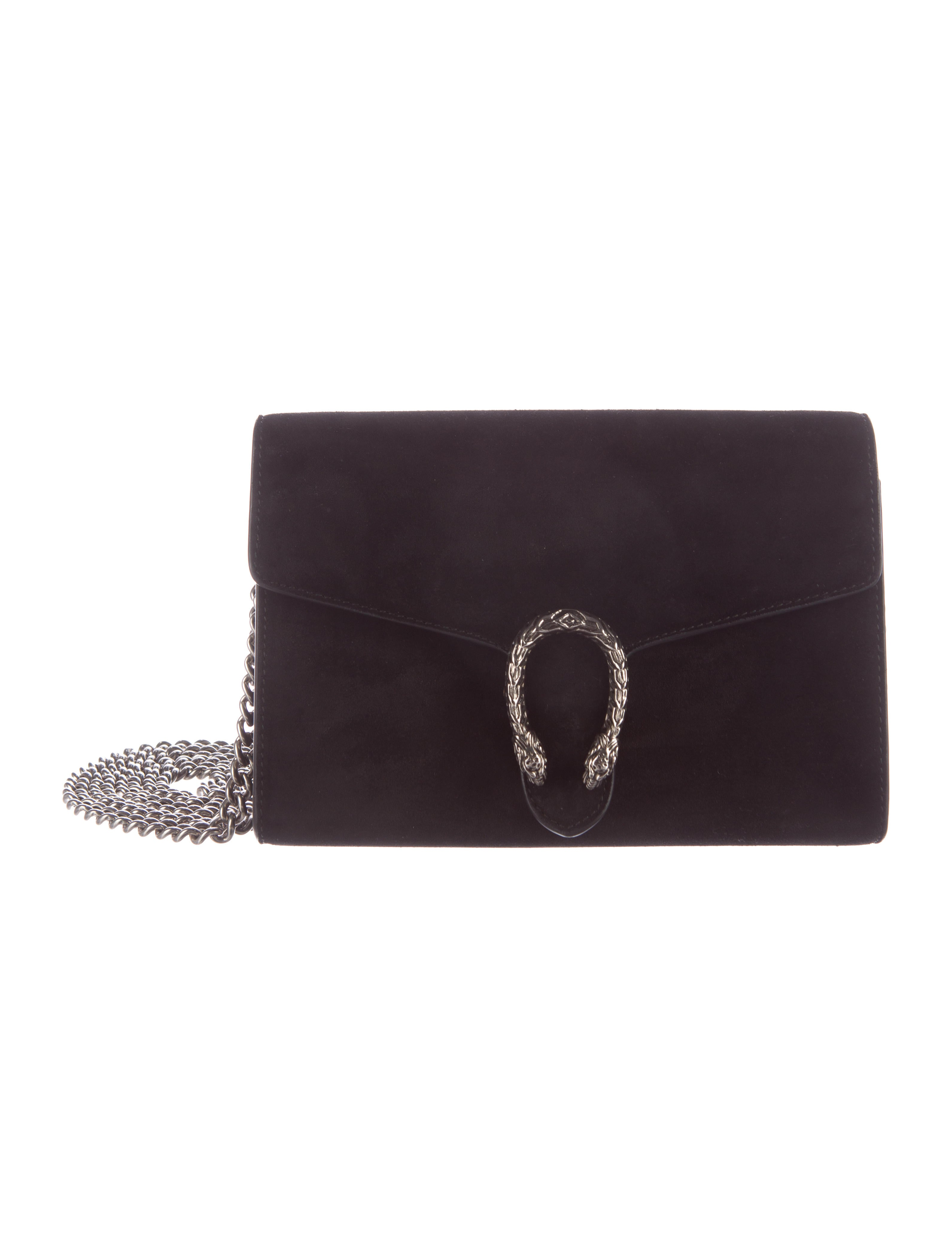 6e9ff9b6efc0 Gucci Dionysus Suede Chain Wallet - Accessories - GUC140327 | The ...
