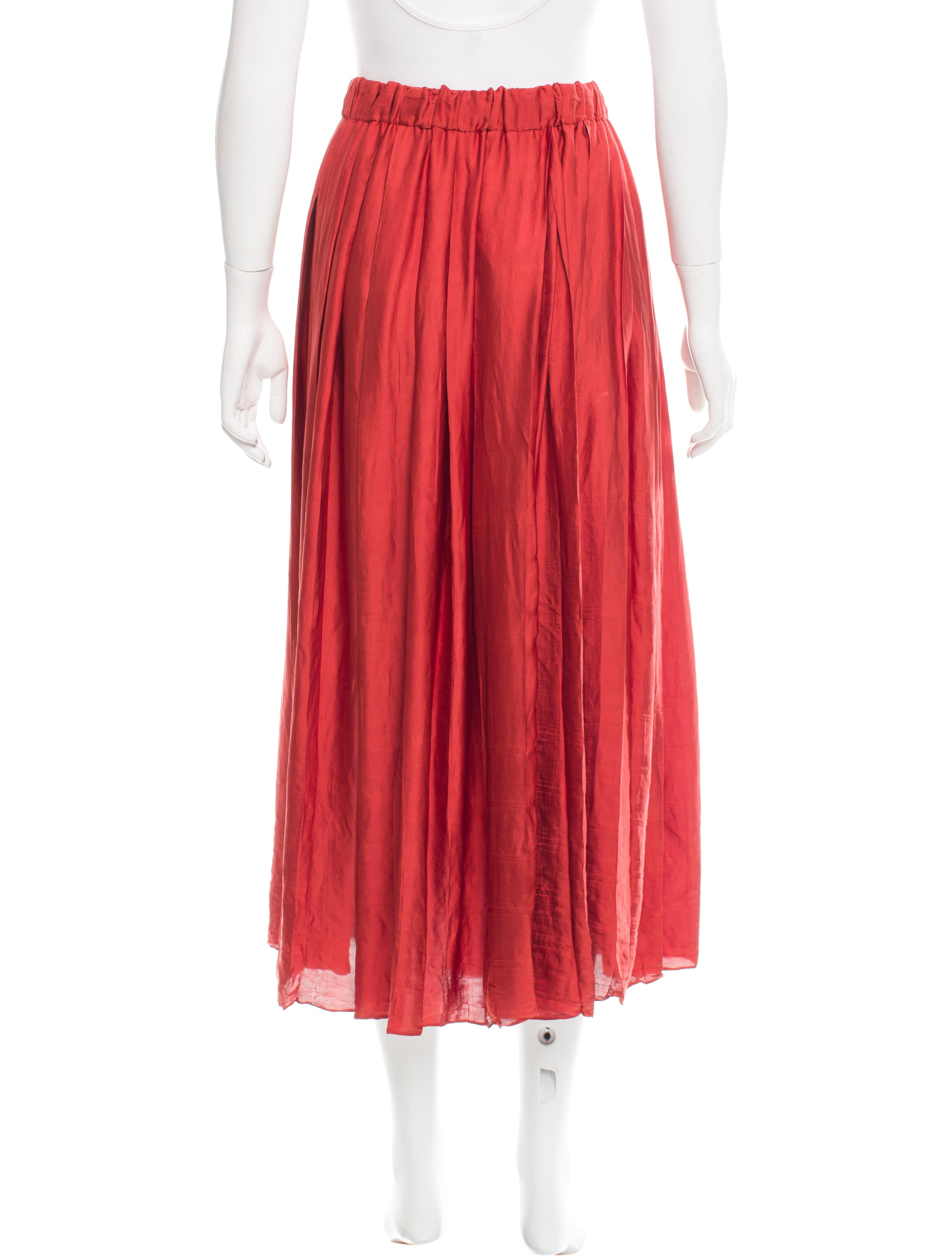 gucci satin midi skirt clothing guc140491 the realreal