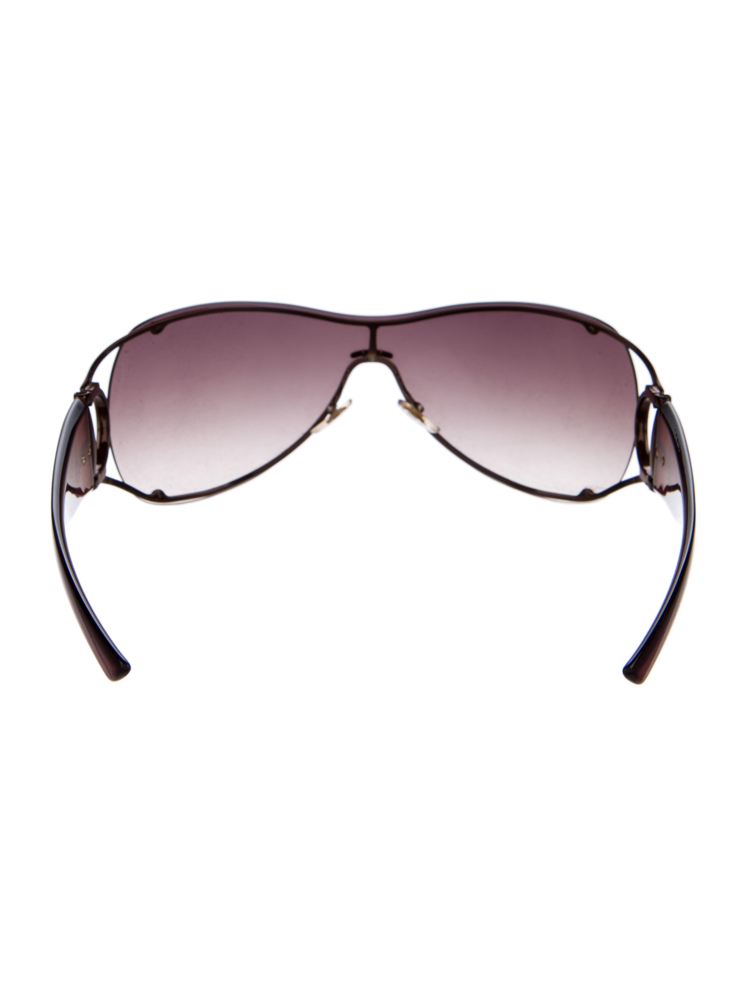 281ba54ba5 Gucci Open Temple Rimless Shield Sunglasses