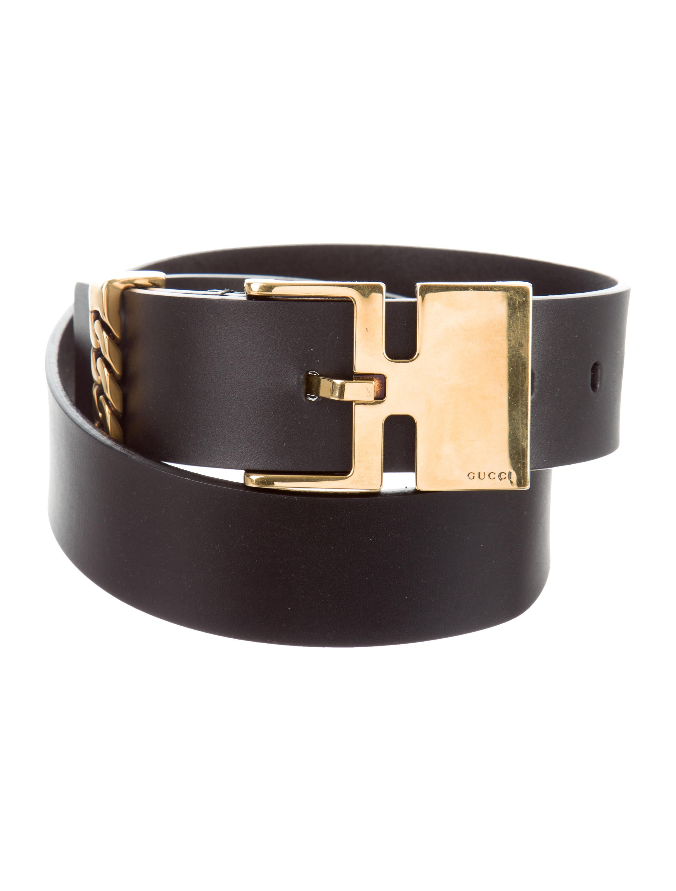 gucci black leather belt accessories guc141773 the
