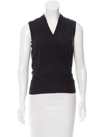 Gucci Sleeveless Wrap Top None