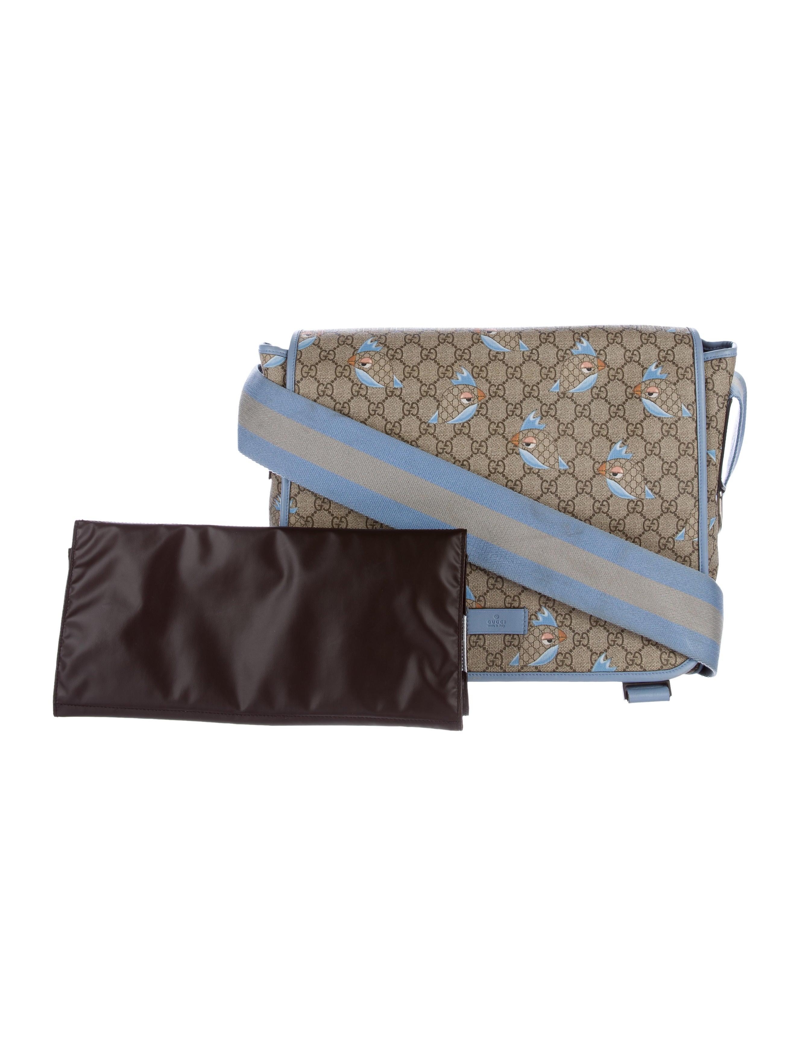 4ac9853e61f Gucci GG Supreme Zoo Birds Diaper Bag - Baby Gear - GUC142533