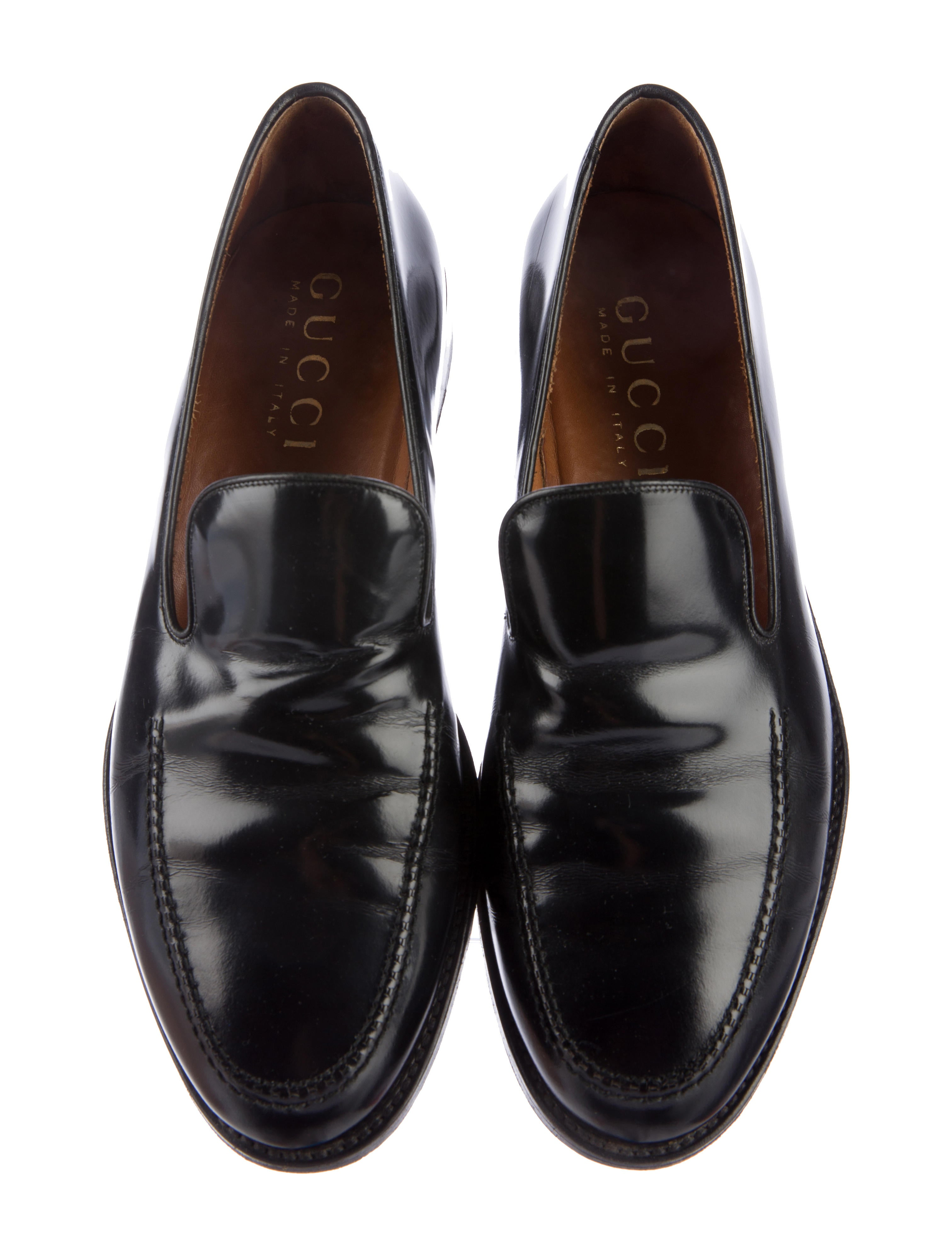 Gucci Leather Dress Loafers - Shoes - GUC143315 | The RealReal