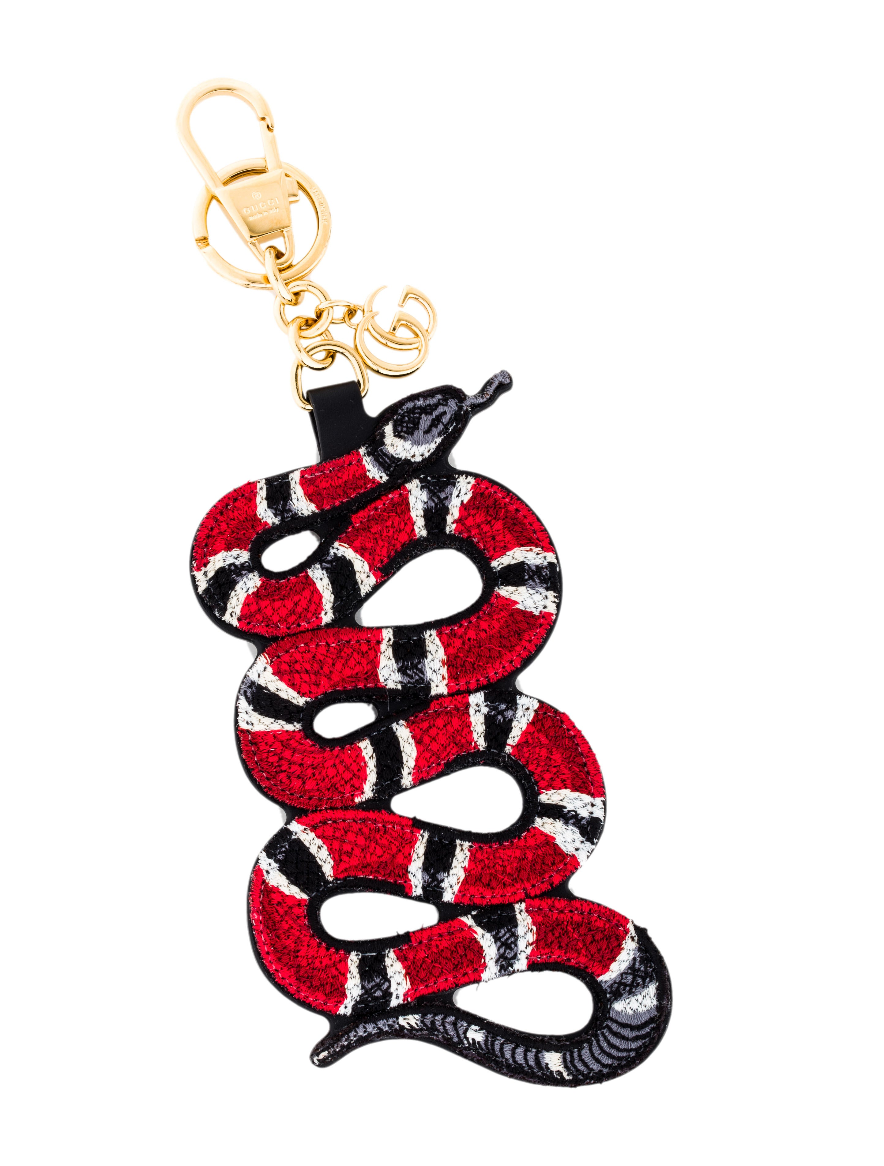 fc6cf95d93e Gucci Kingsnake Embroidered Keychain - Accessories - GUC143685