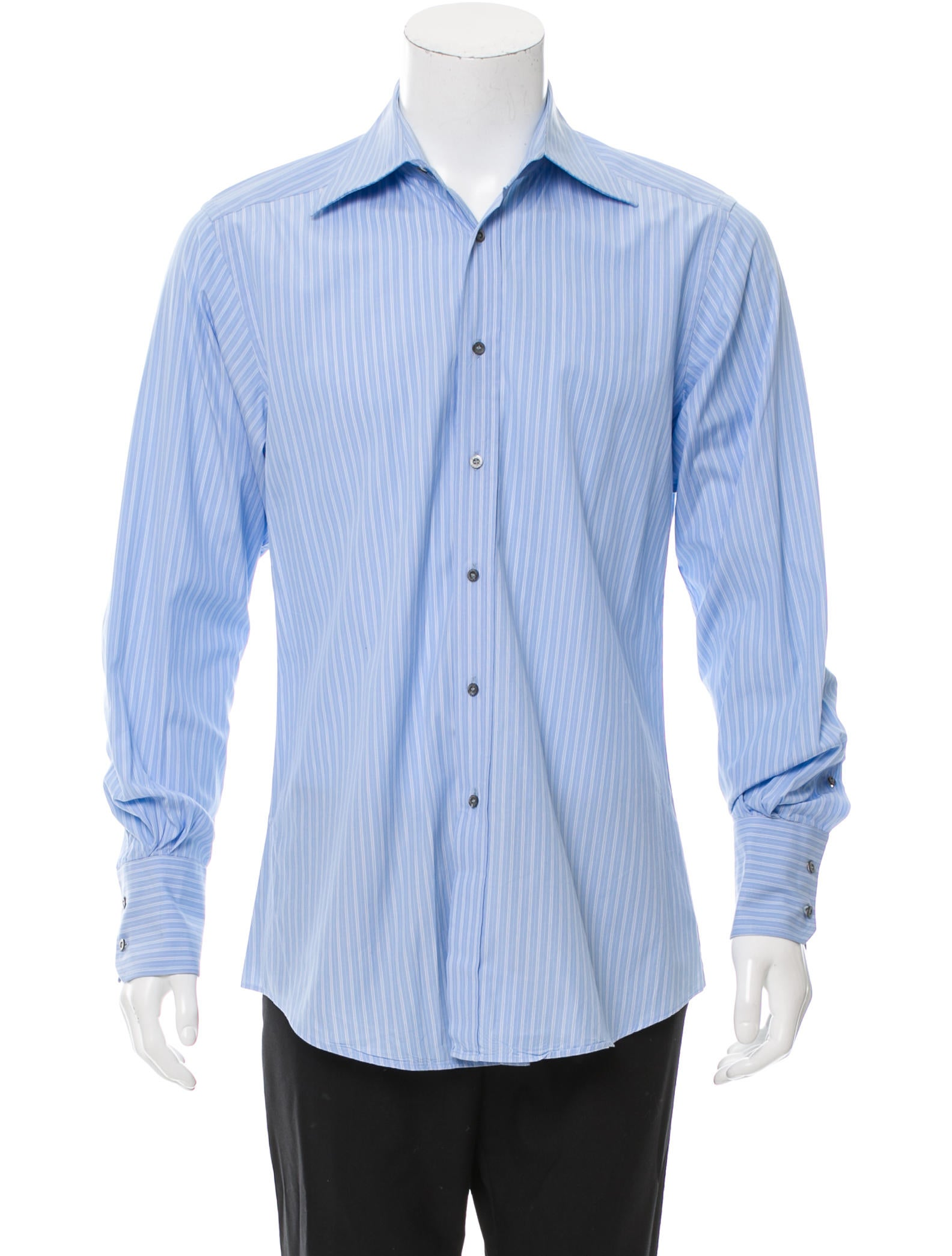 Gucci Striped Button Up Shirt Clothing Guc143818 The Realreal