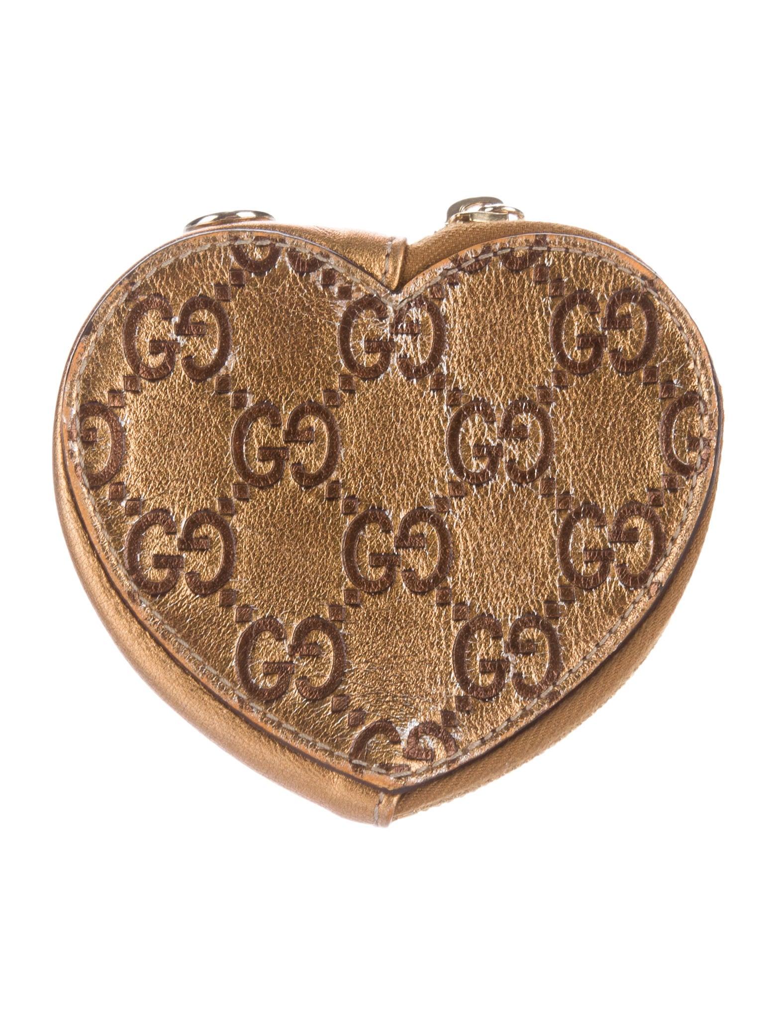 2a0efdb8eac Gucci Guccissima Heart Coin Purse - Accessories - GUC143874