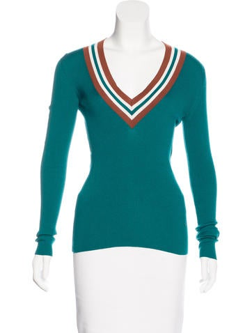 Gucci Rib Knit Long Sleeve Top None