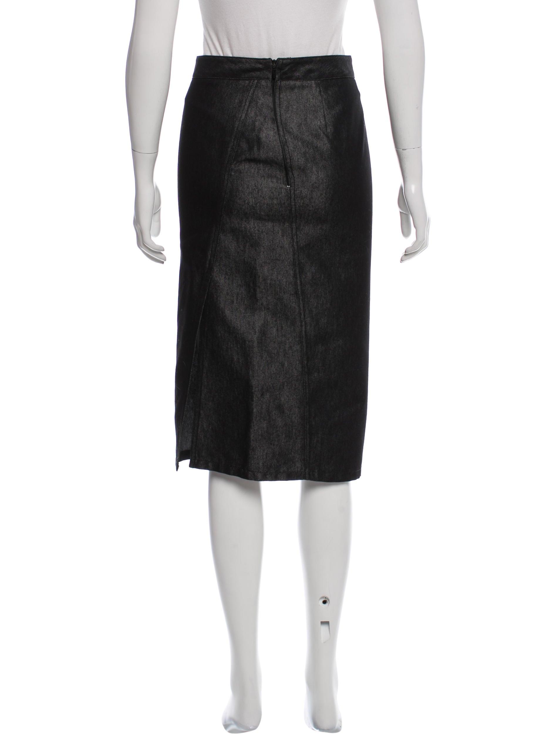 gucci denim knee length skirt clothing guc144243 the
