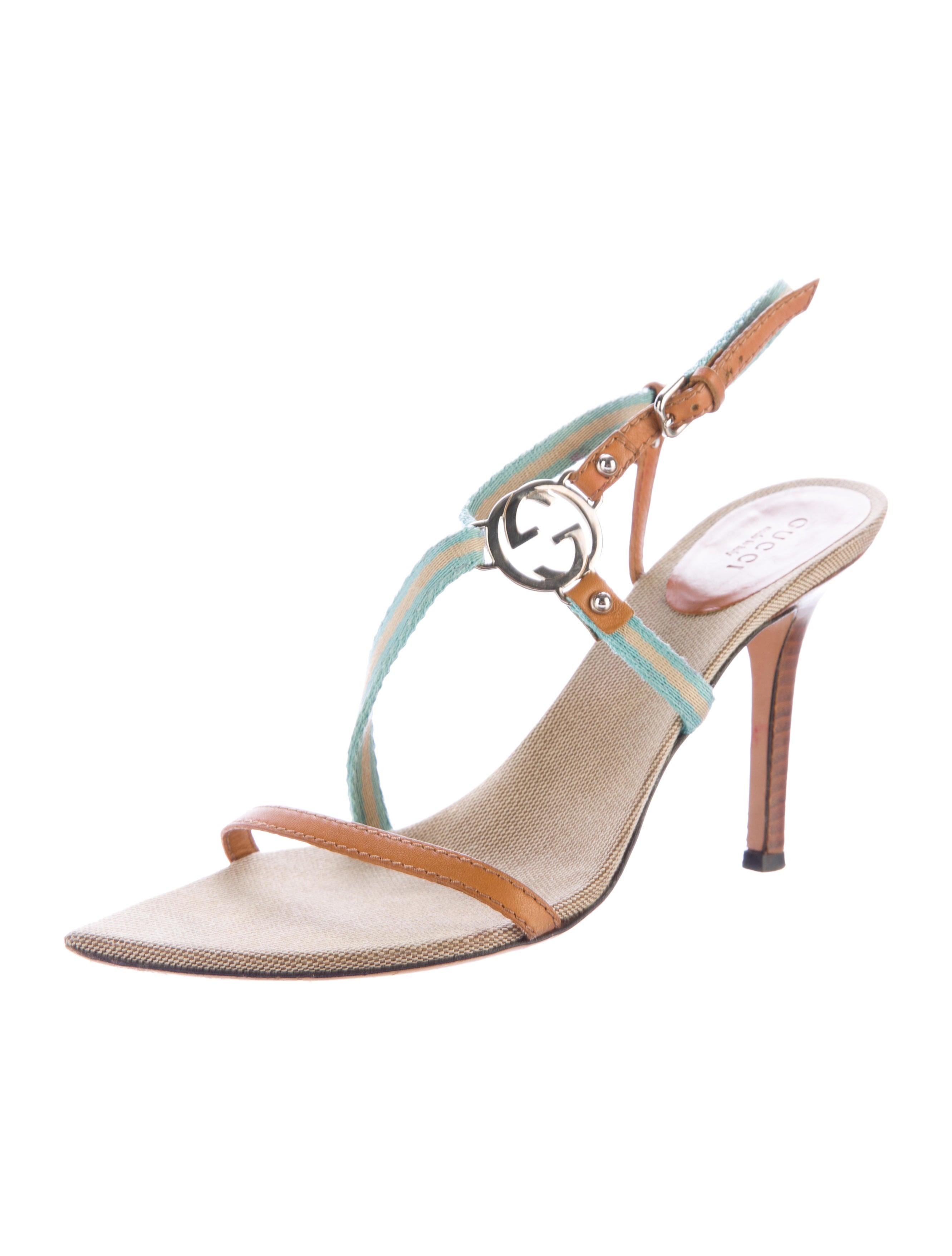 a6e985a4f5457 Gucci Leather Web-Trimmed Sandals - Shoes - GUC144282
