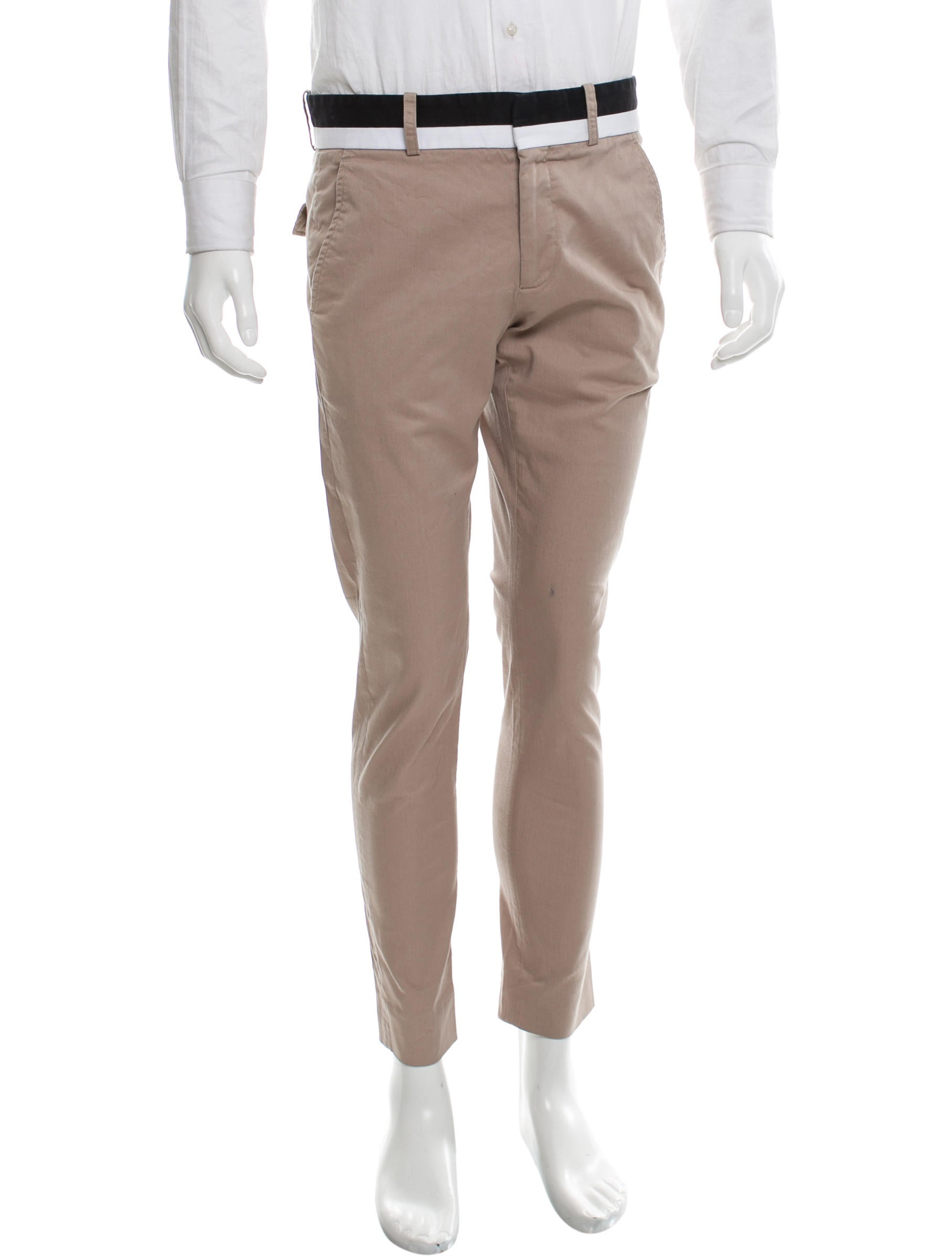 Gucci Contrast Skinny Pants - Clothing - GUC144413 | The RealReal