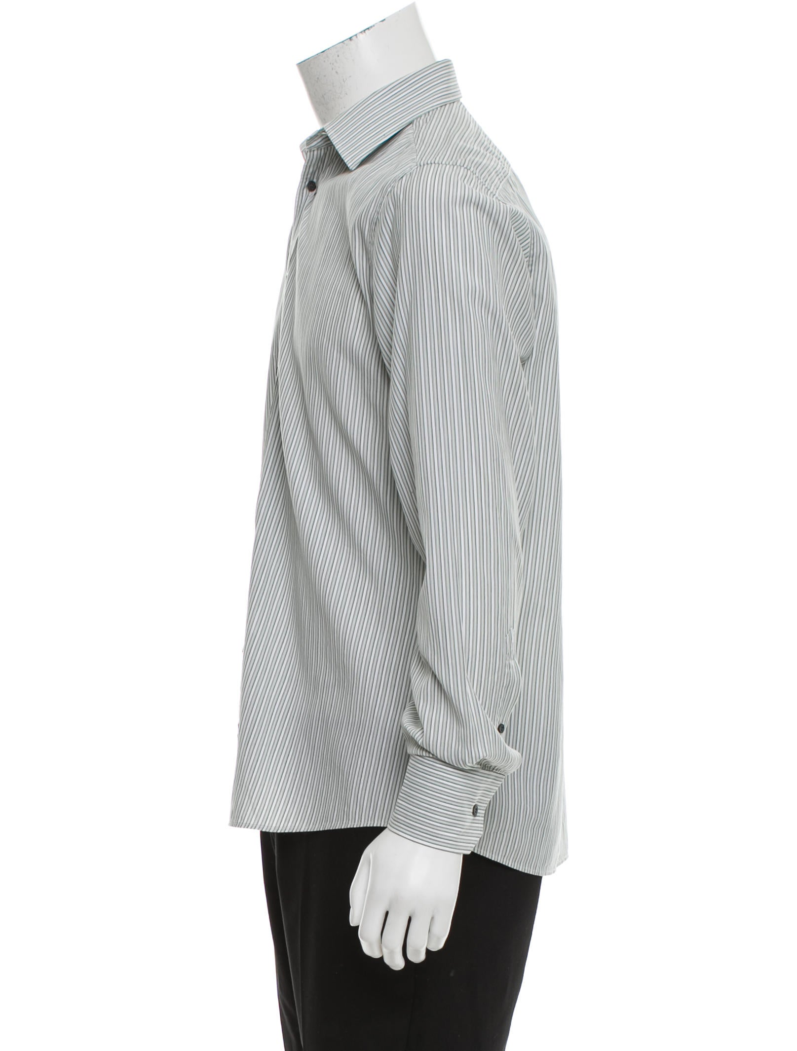 Gucci Tie Button-Up Shirt - Clothing - GUC144587 | The RealReal