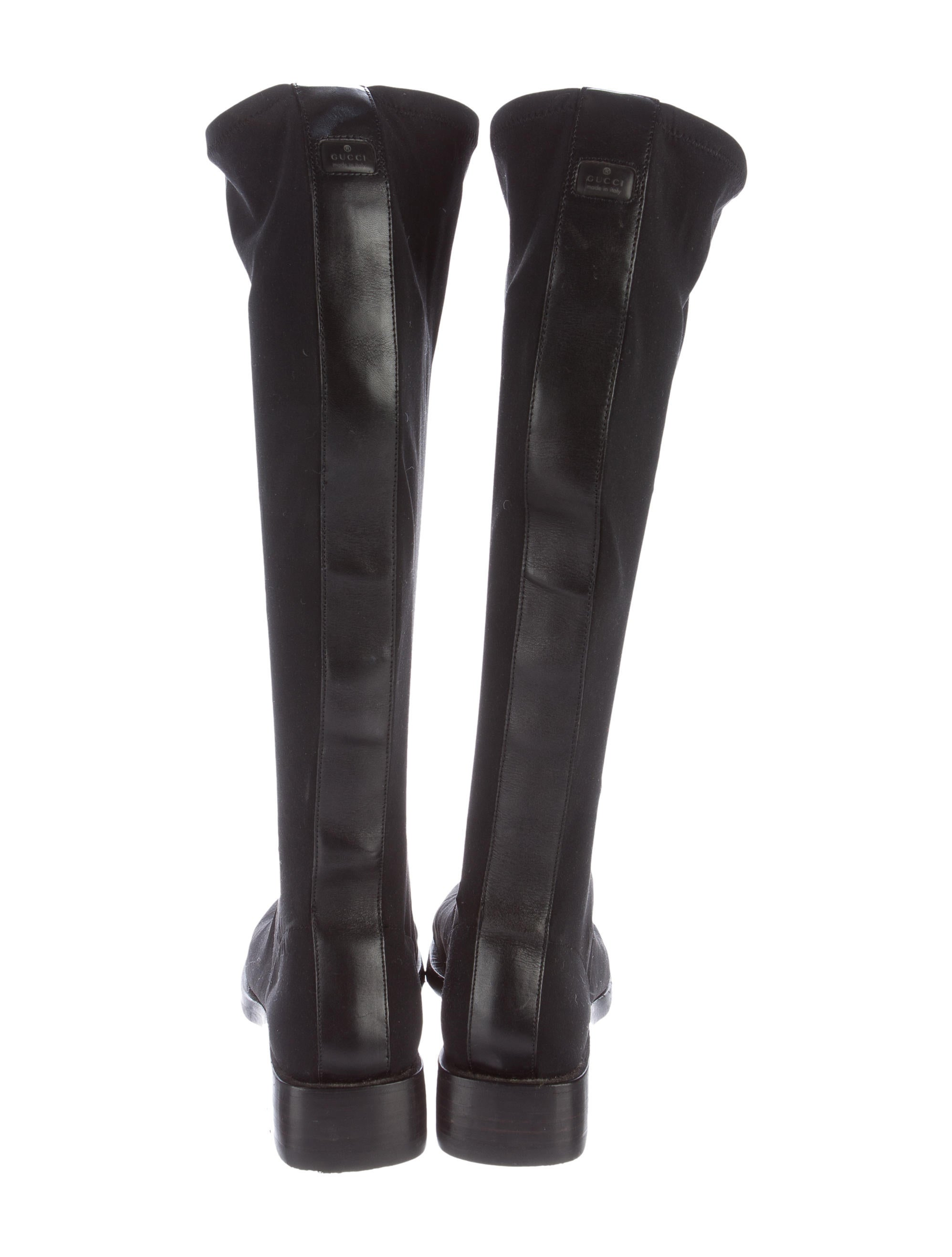gucci canvas knee high boots shoes guc144897 the
