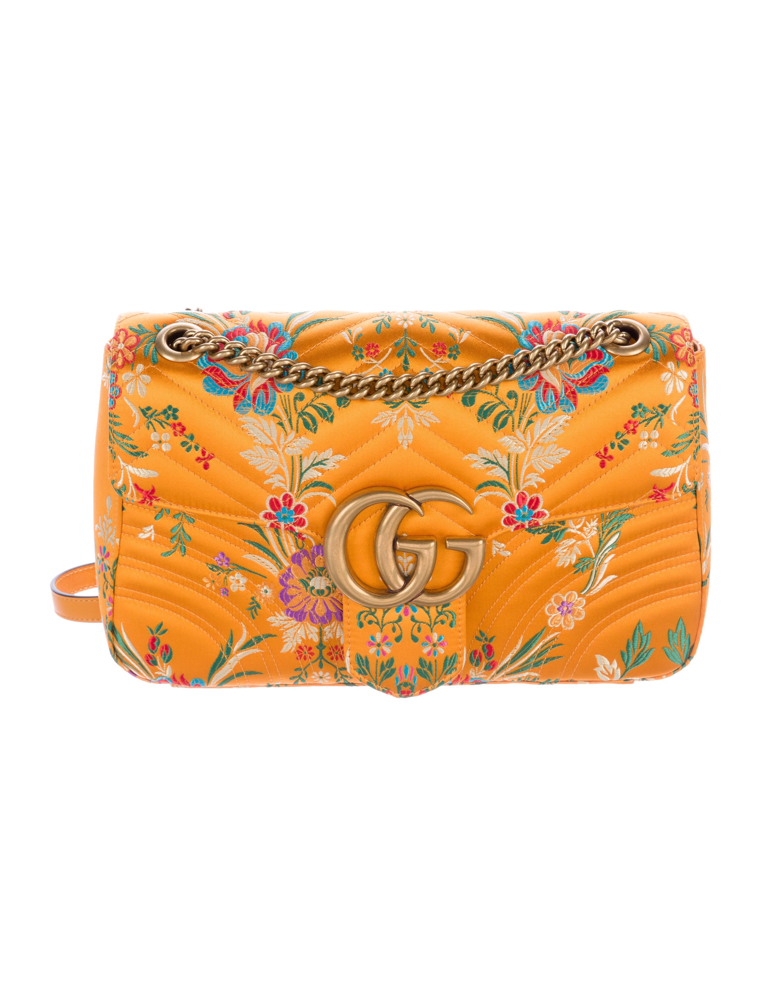 Gucci Spring 2017 GG Marmont Floral Jacquard Shoulder Bag W/ Tags - Handbags - GUC145173 | The ...