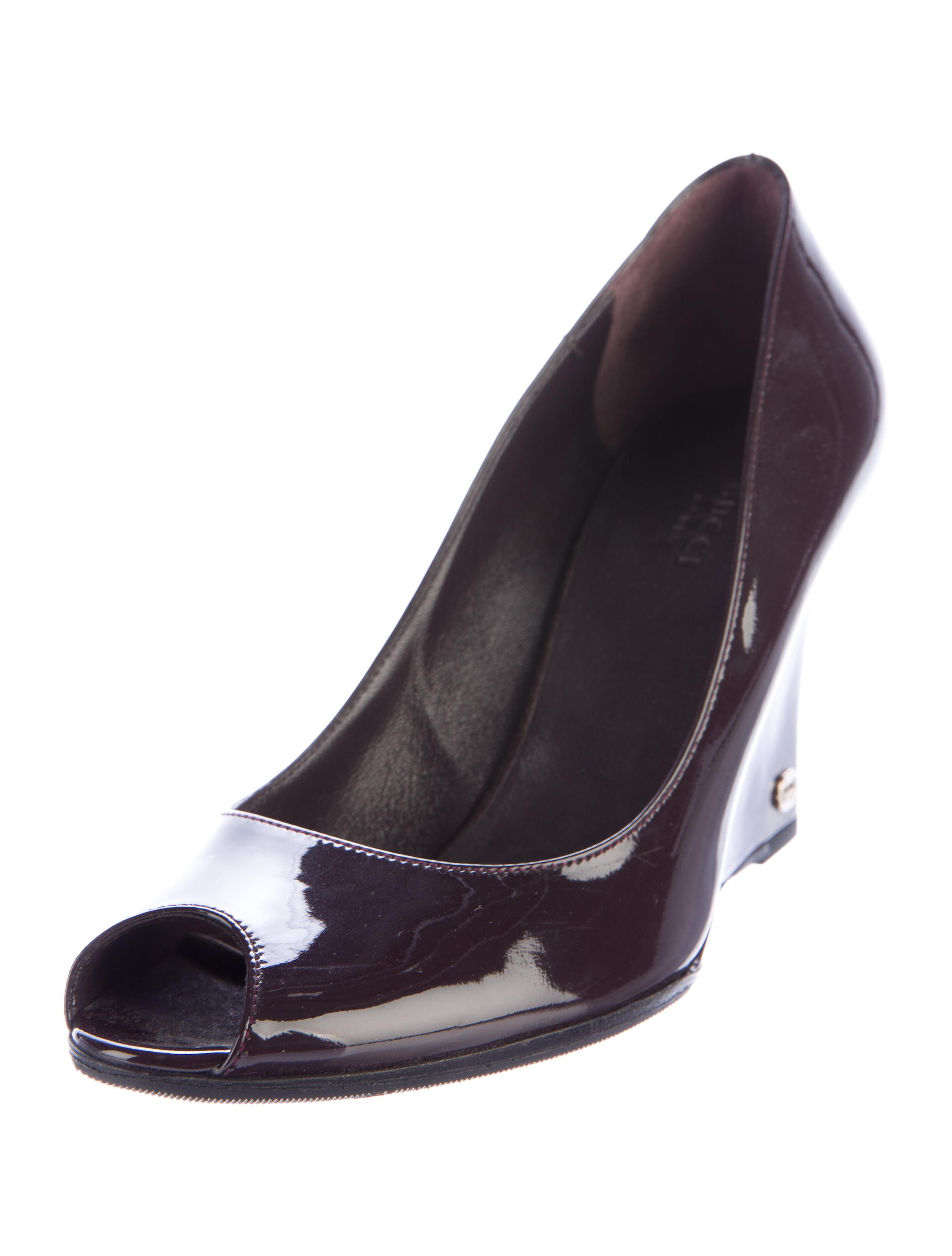 gucci patent leather gg wedges shoes guc145226 the