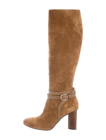 gucci suede knee length boots shoes guc145800 the