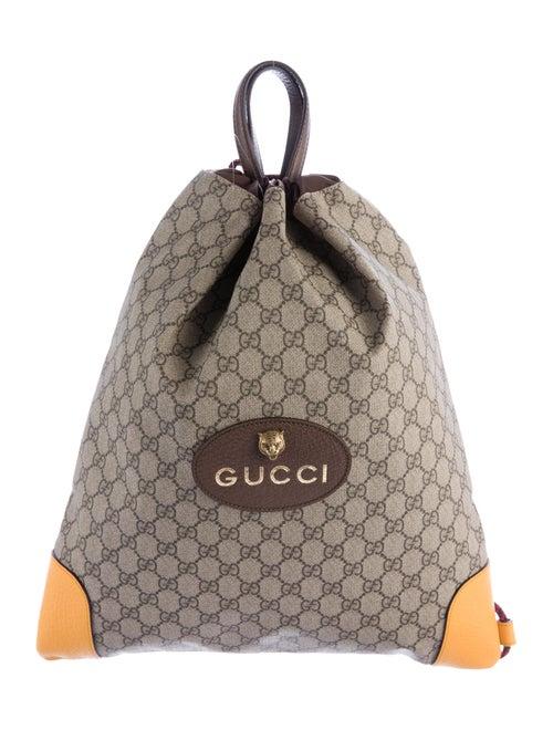 b649ed242 Gucci GG Supreme Drawstring Backpack w/ Tags - Bags - GUC146430 ...