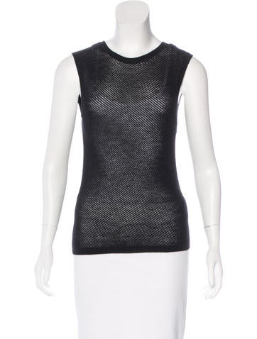 Gucci Textured Sleeveless Sweater None