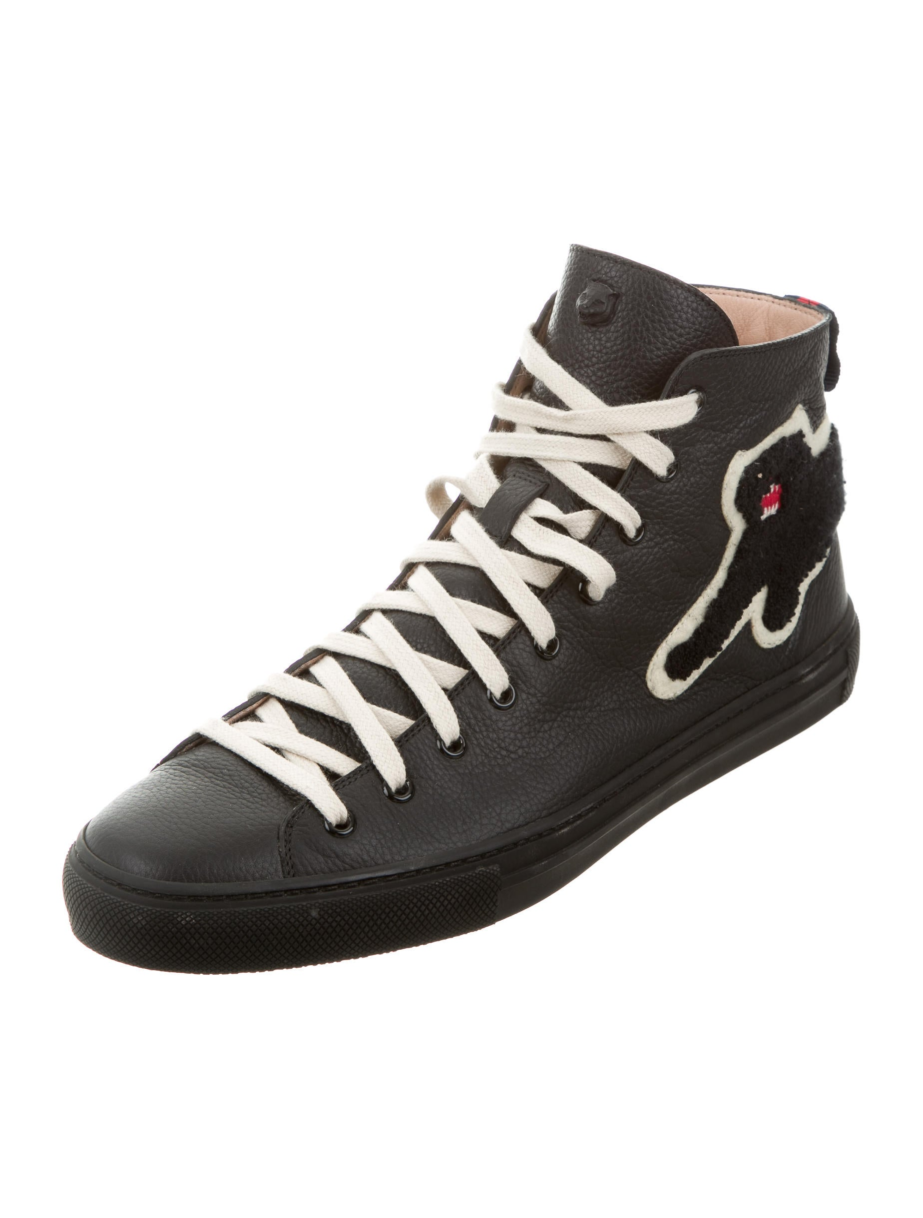 Gucci Embroidered Black Panther Sneakers Shoes