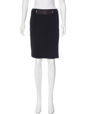Gucci Wool Pencil Skirt None