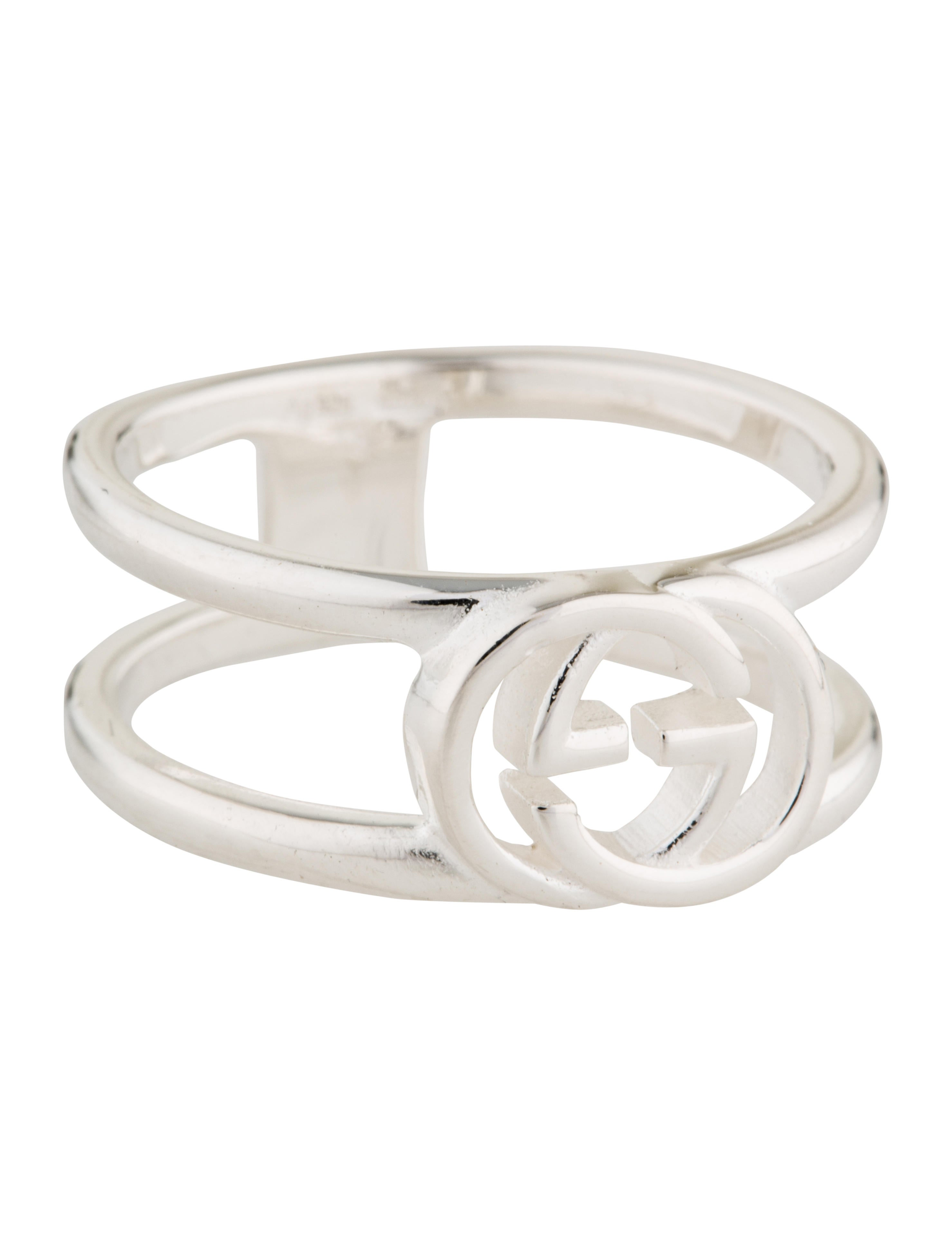f6486e48f Gucci Wide Ring with Interlocking G Motif - Rings - GUC147719 | The ...